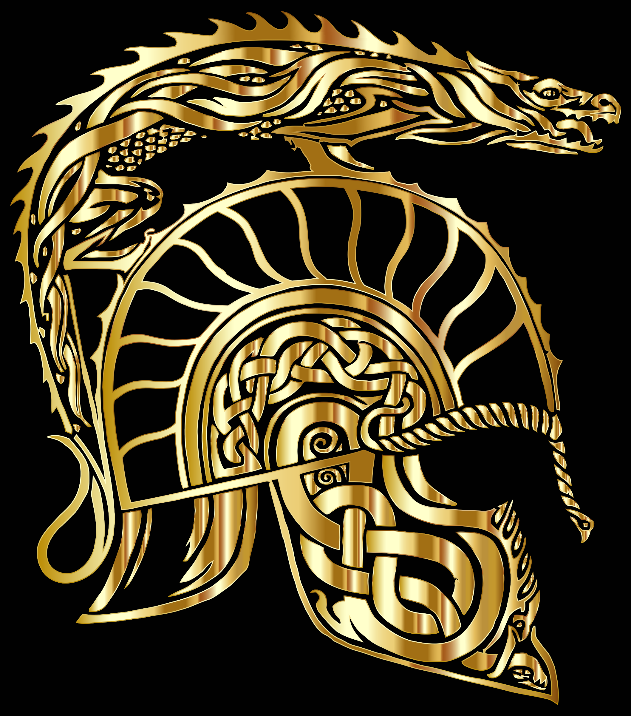 Children Of Hurin Dragon Helm Gold by GDJ