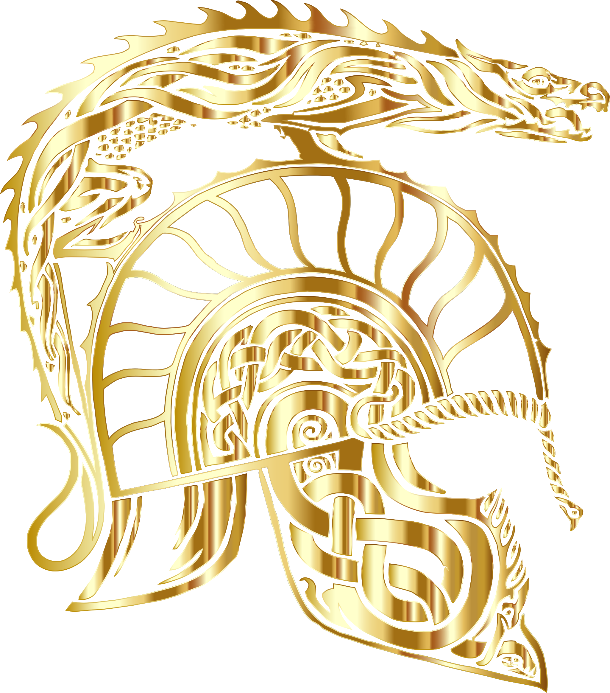 Children Of Hurin Dragon Helm Gold No Background by GDJ