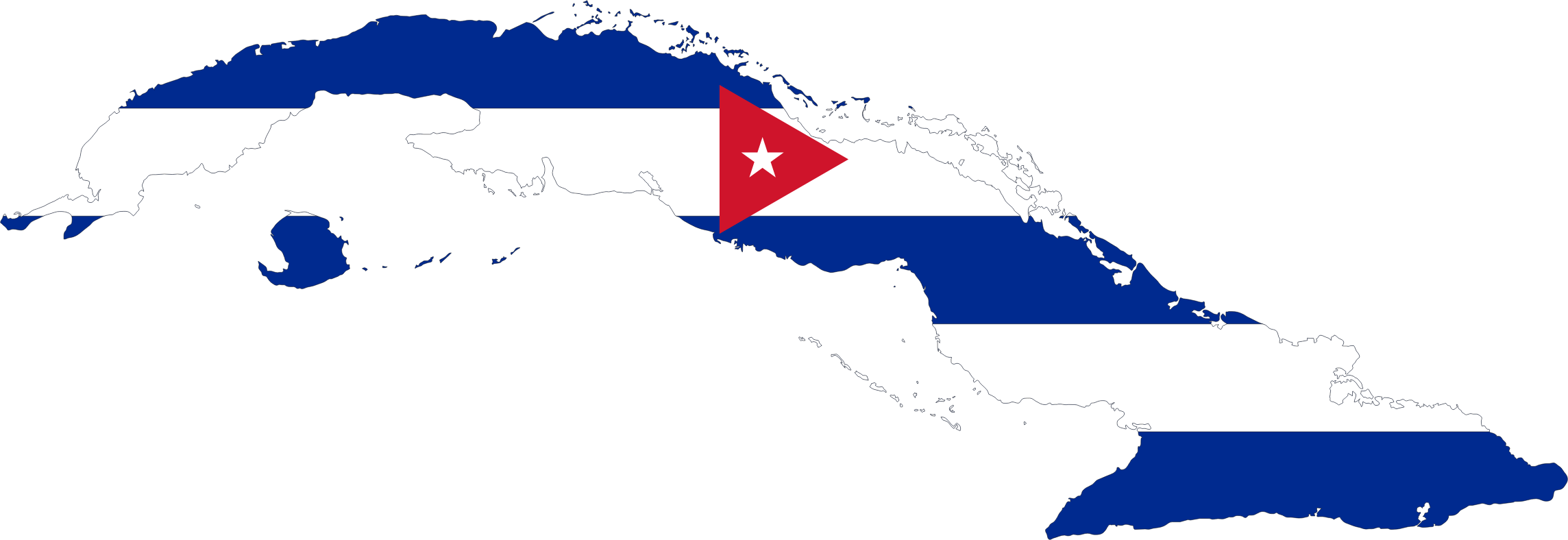 Cuba Map Flag by GDJ