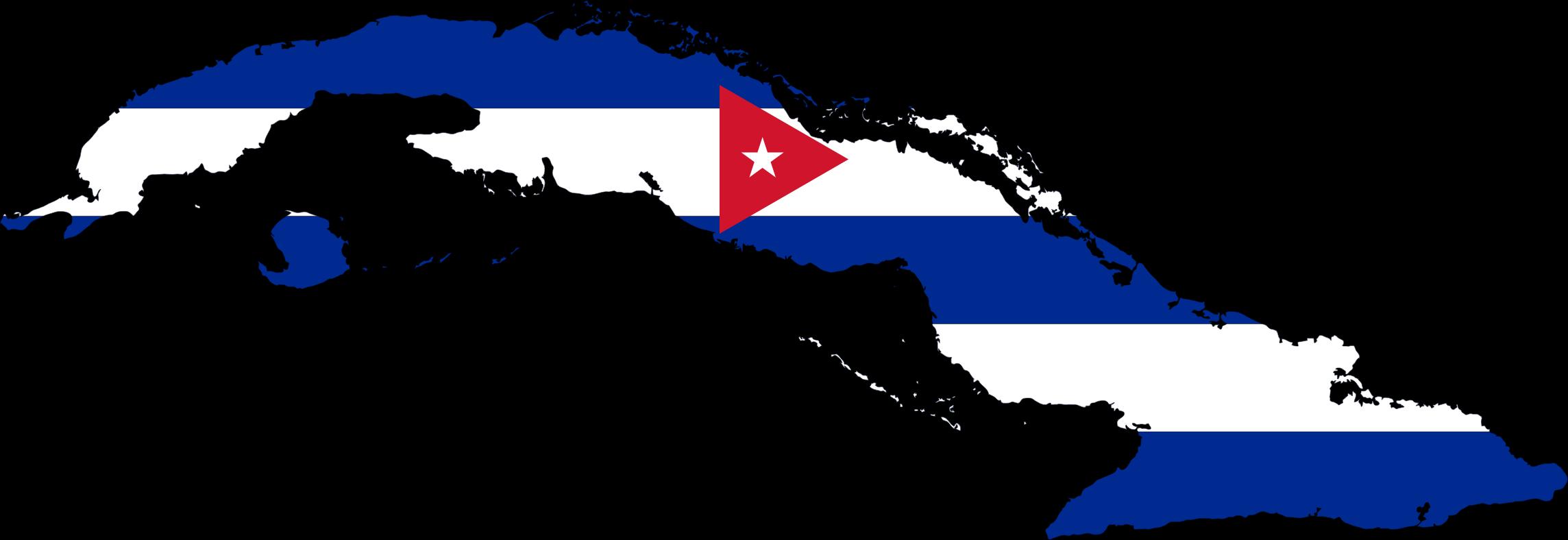 Clipart Cuba Map Flag - Cuba map