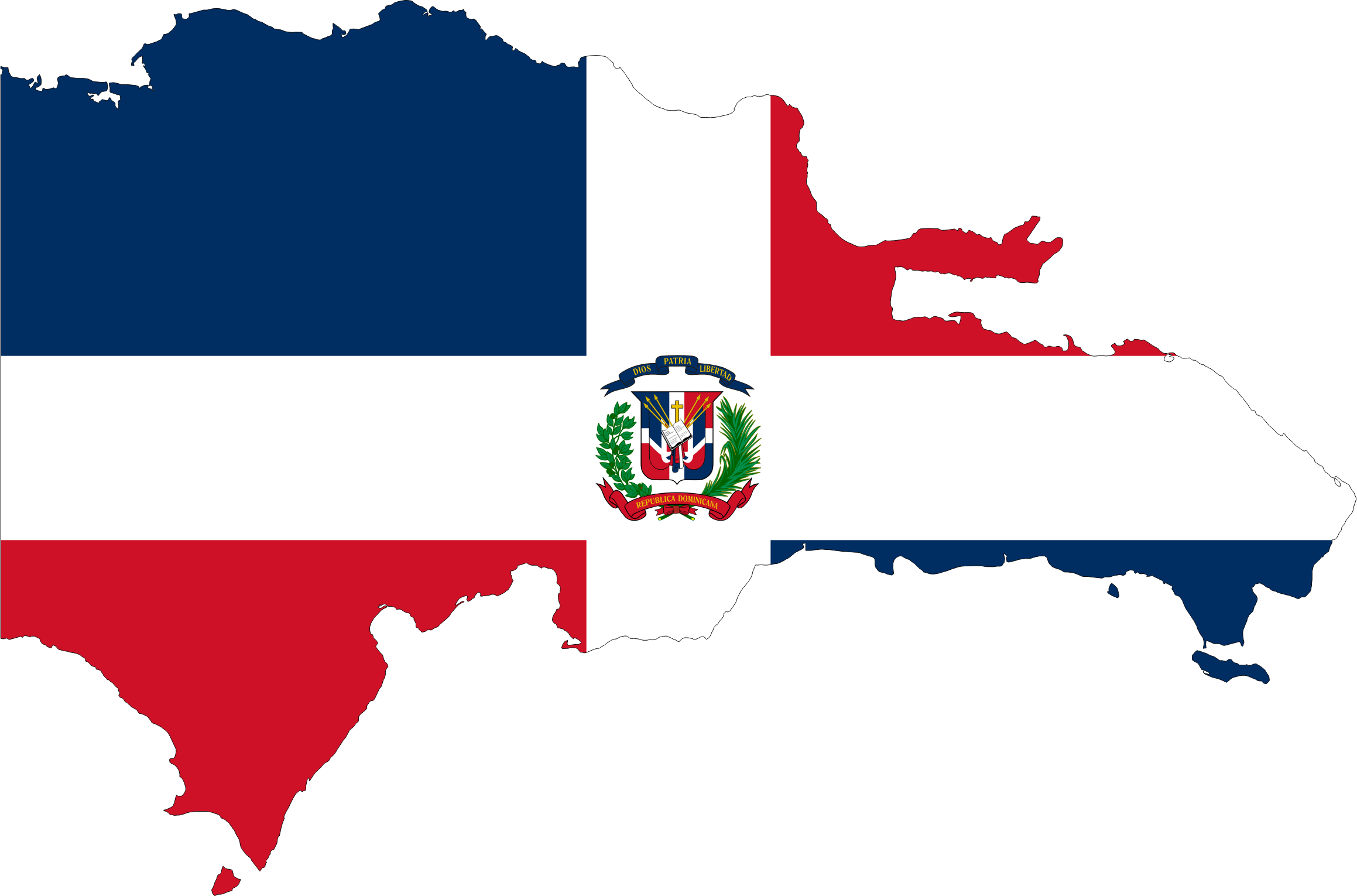 Dominican Republic Map Flag by GDJ