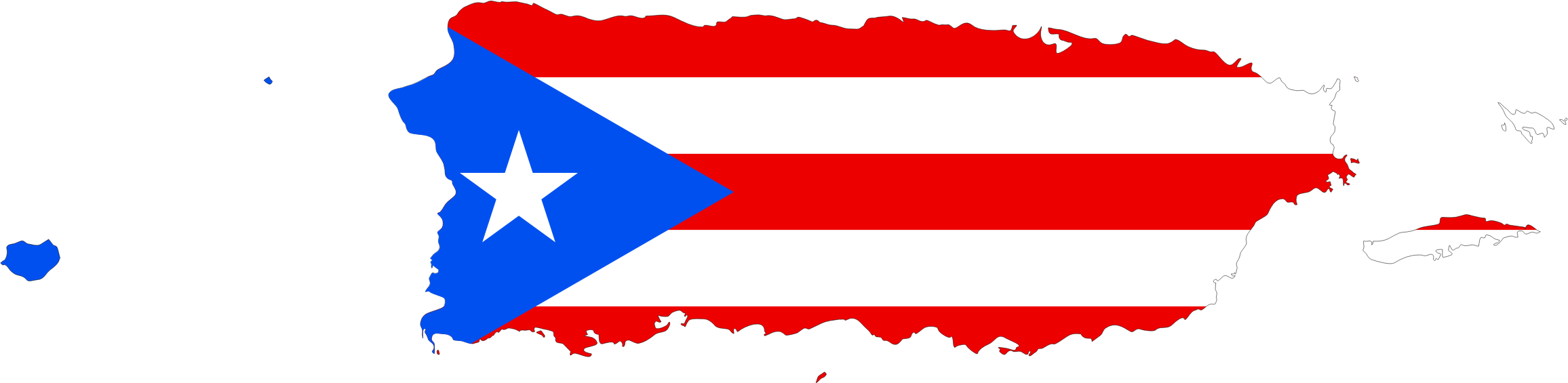 Clipart Puerto Rico Map Flag - Puerto rico map