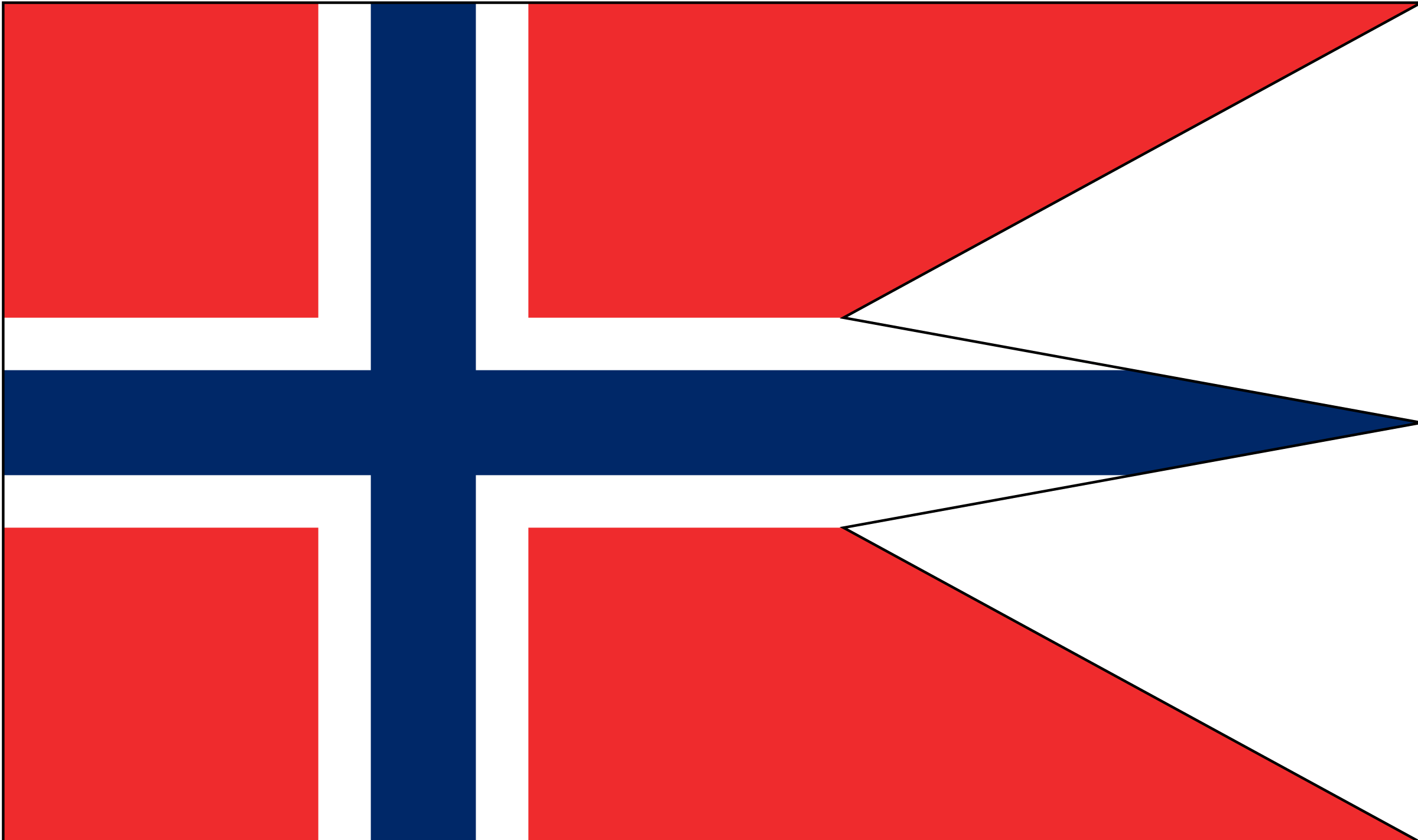 Norwegian state and war flag by Anonymous