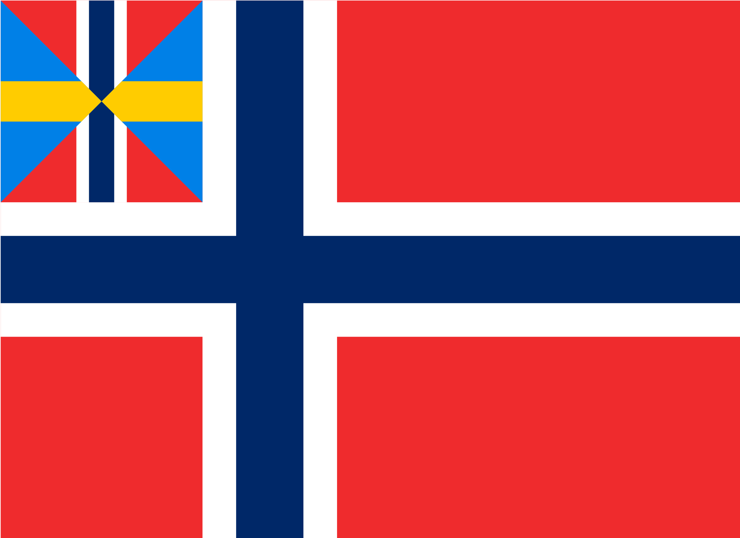 Norwegian Union flag by Anonymous