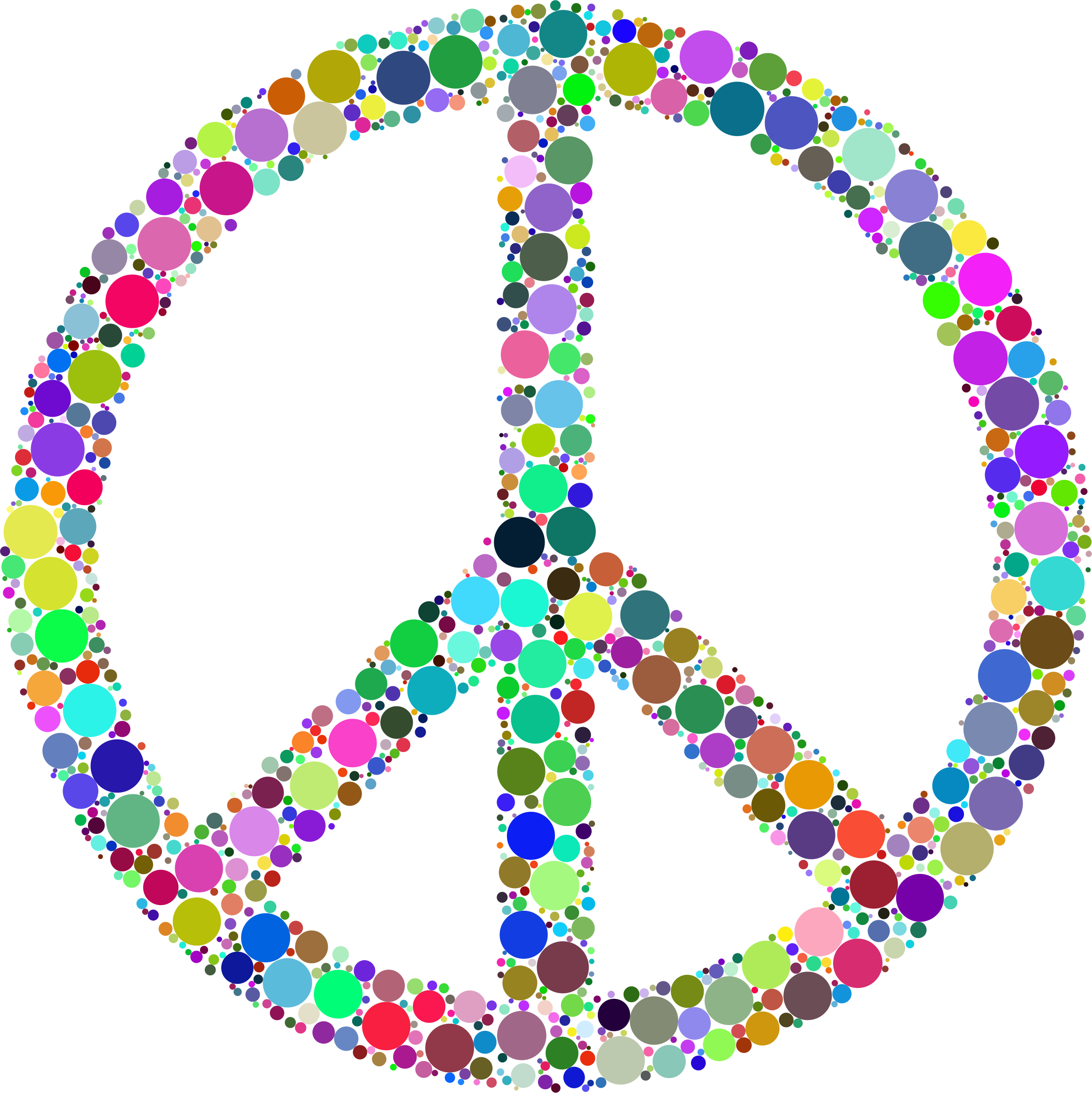 Colorful Circles Peace Sign by GDJ