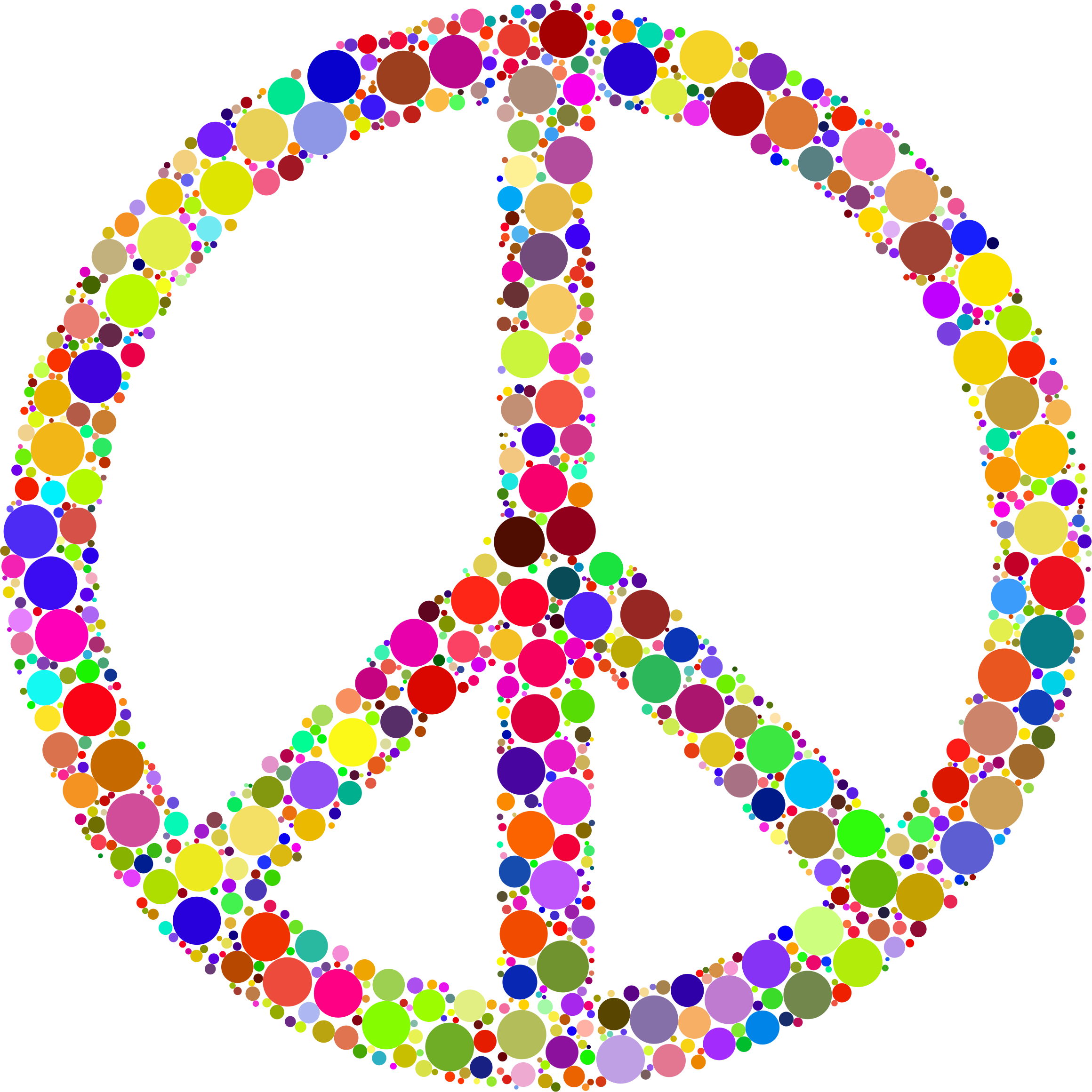 Colorful Circles Peace Sign 2 by GDJ