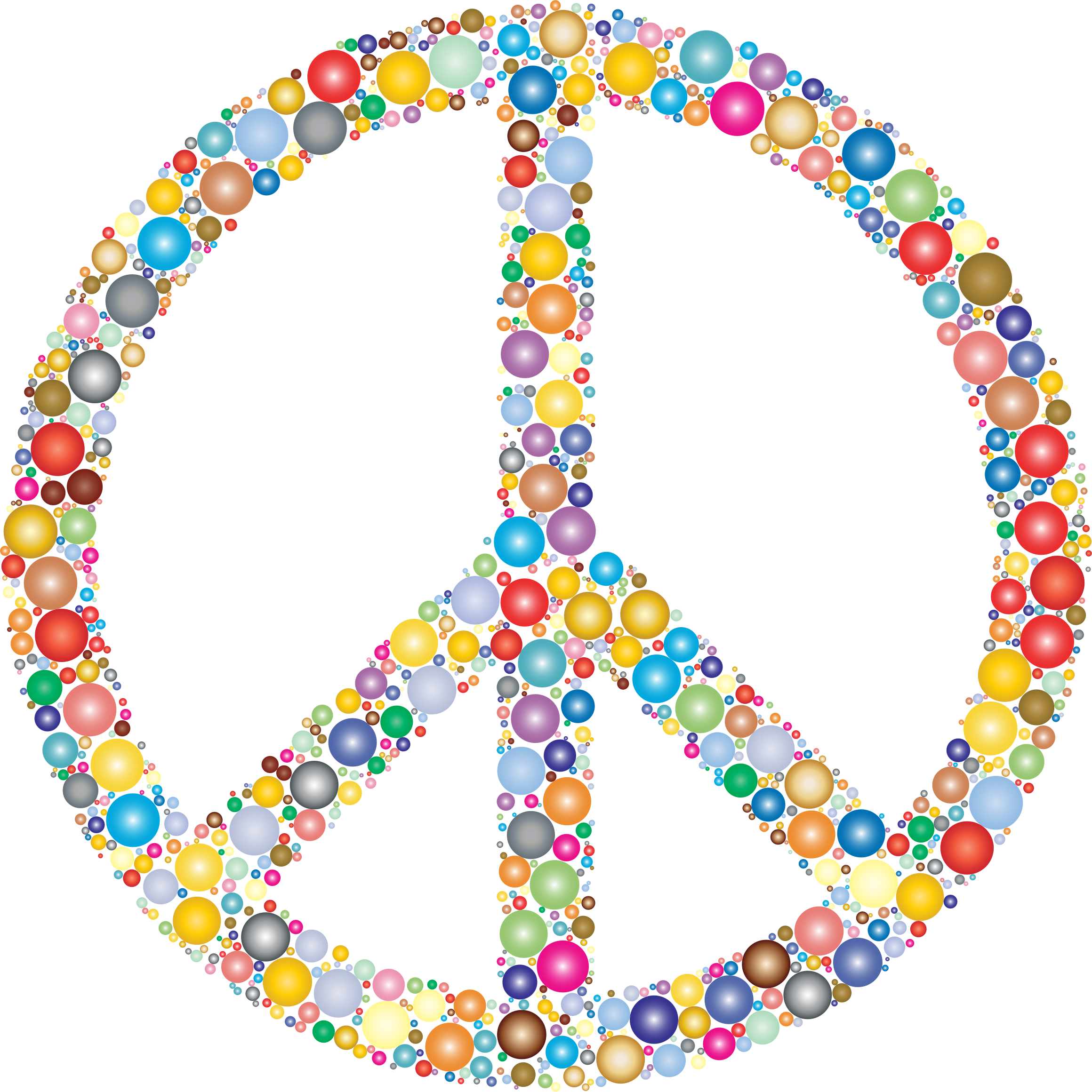 Colorful Circles Peace Sign 3 by GDJ