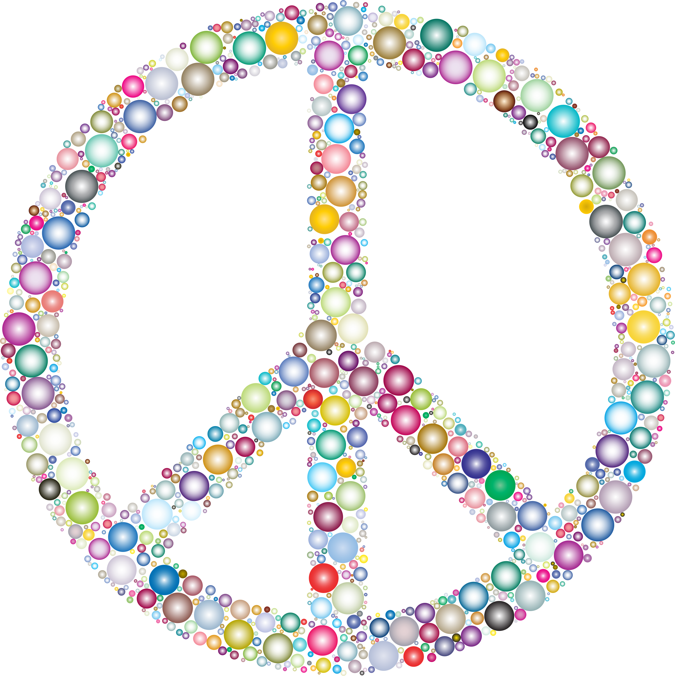 Colorful Circles Peace Sign 4 by GDJ