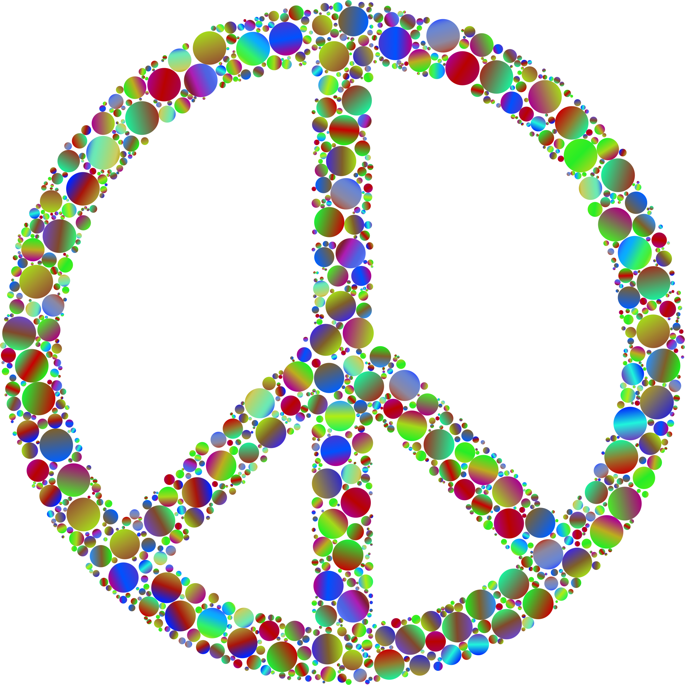 Colorful Circles Peace Sign 6 by GDJ