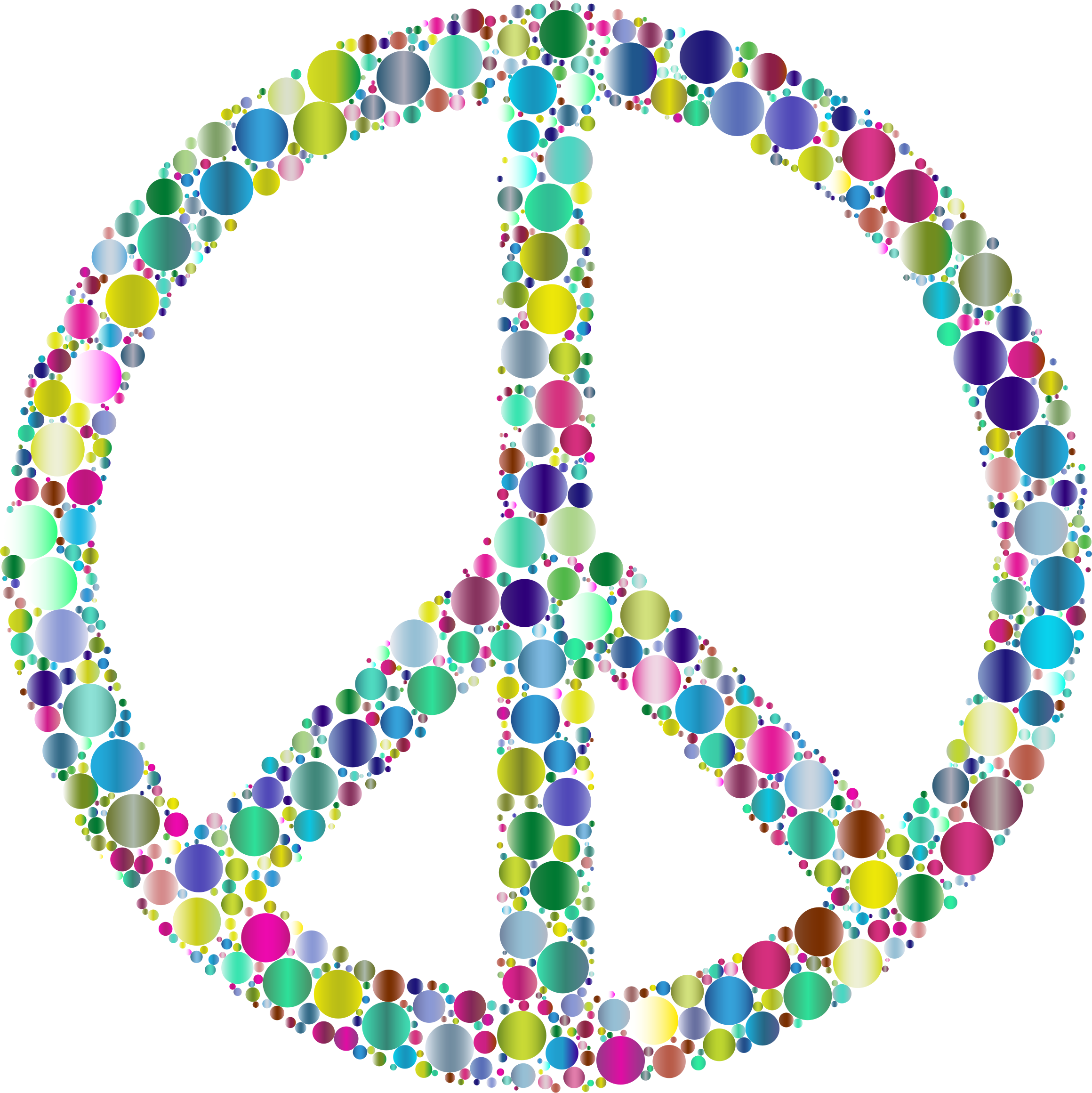 Colorful Circles Peace Sign 7 by GDJ