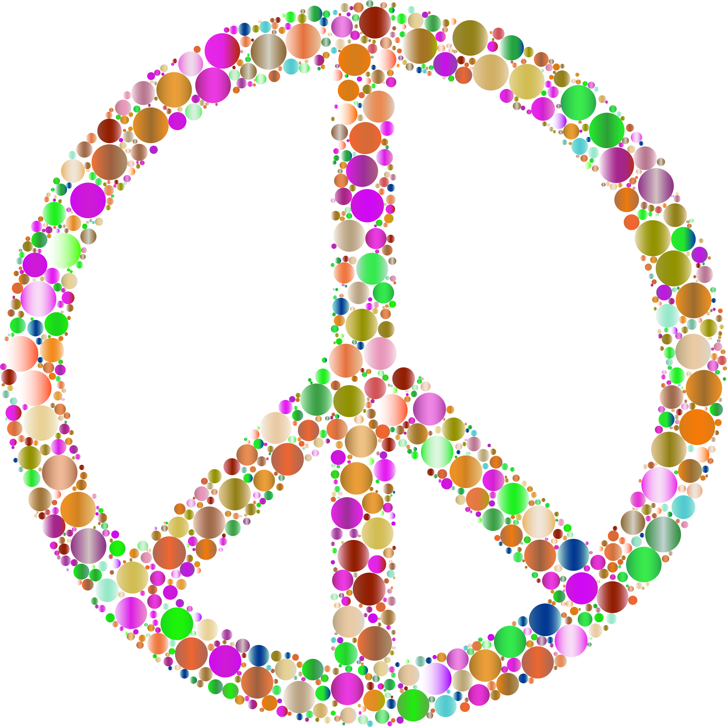 Colorful Circles Peace Sign 8 by GDJ