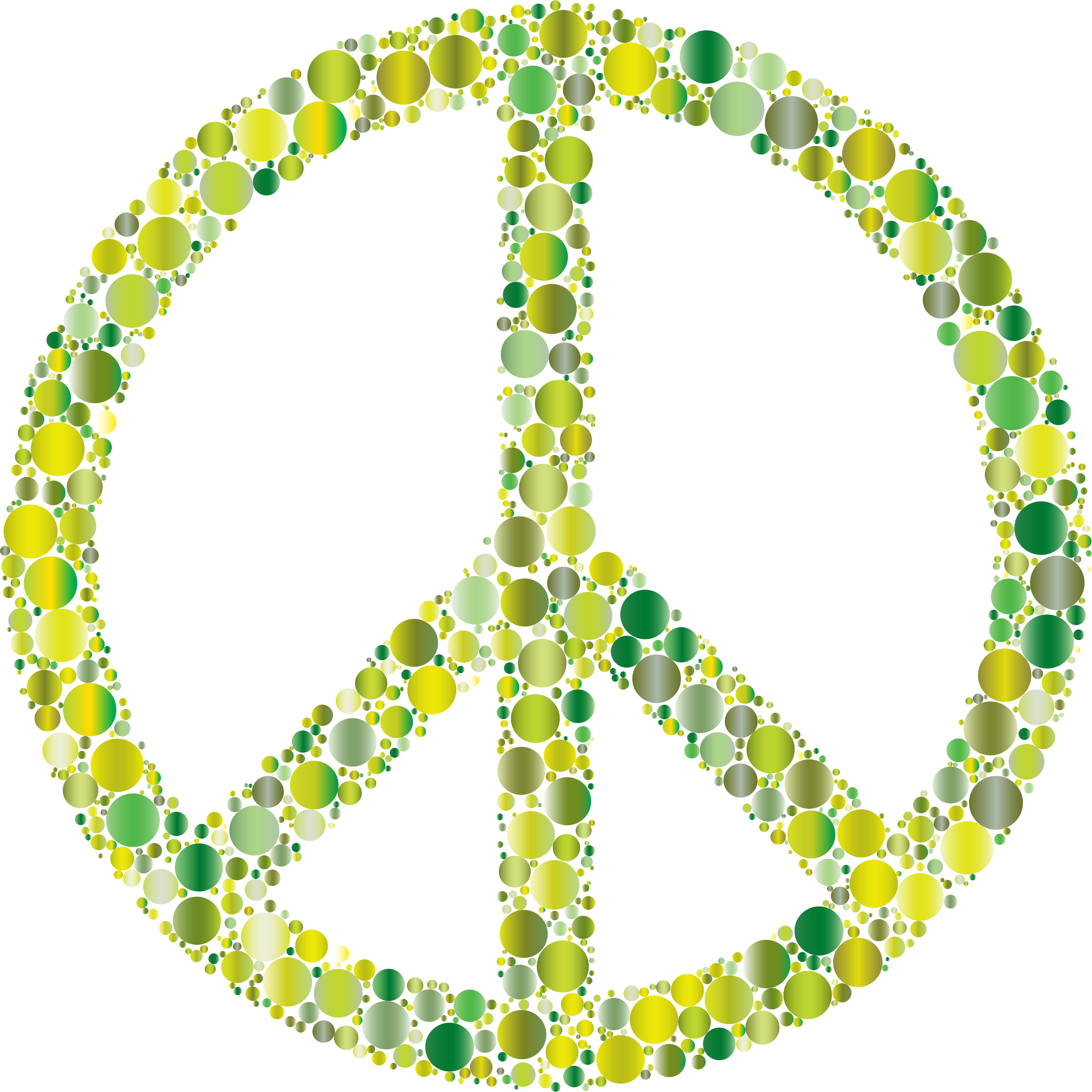 Colorful Circles Peace Sign 9 by GDJ