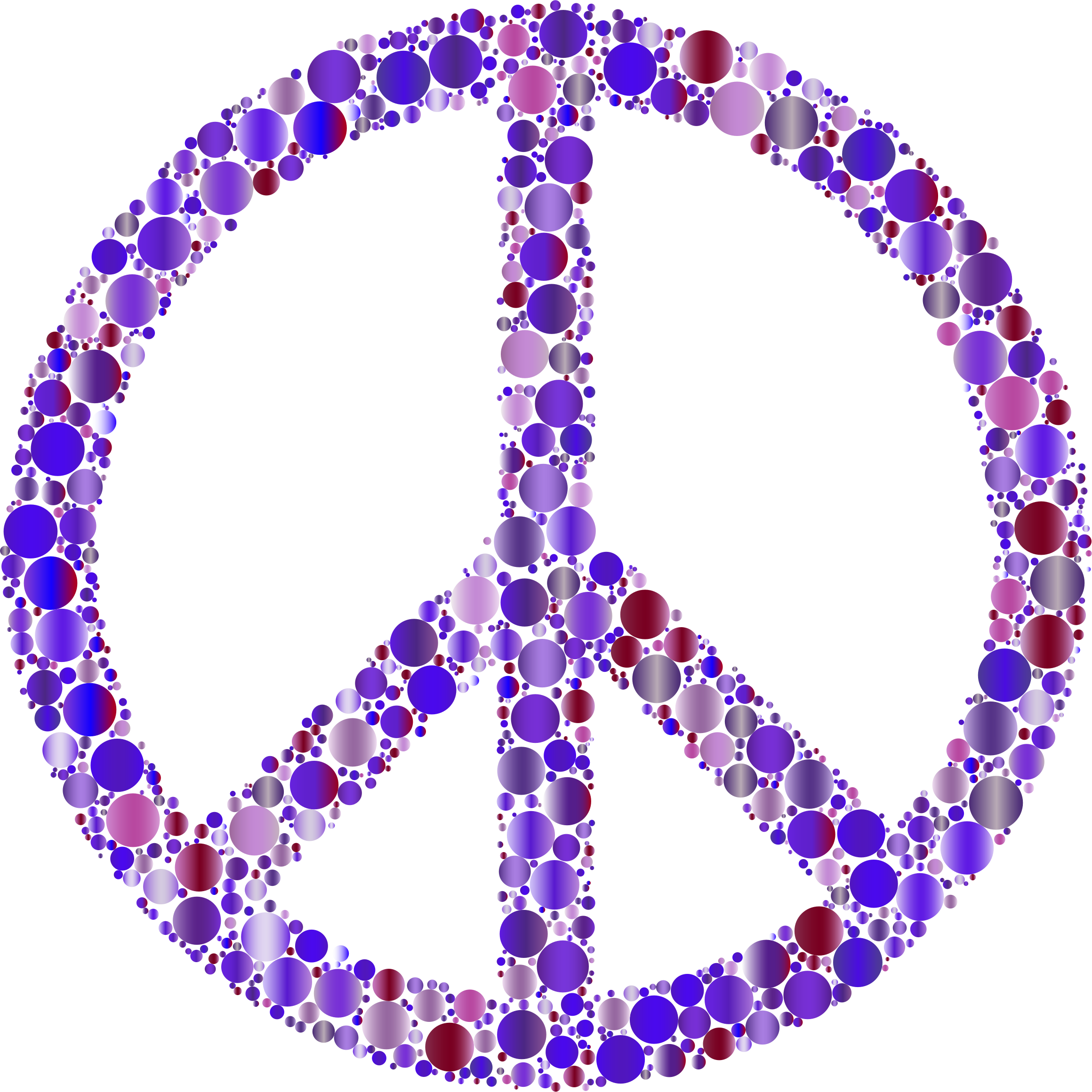 Colorful Circles Peace Sign 10 by GDJ