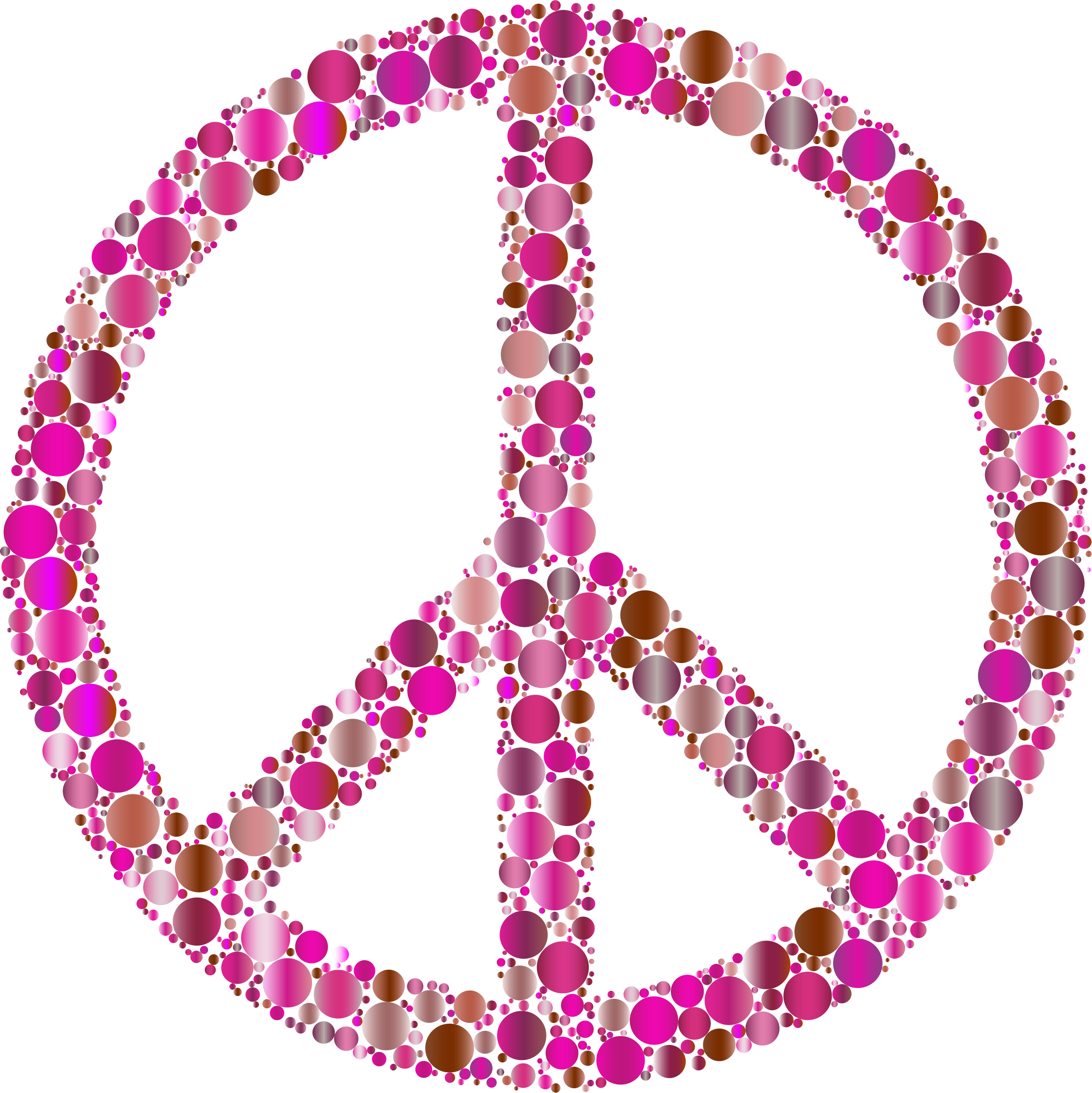 Colorful Circles Peace Sign 11 by GDJ