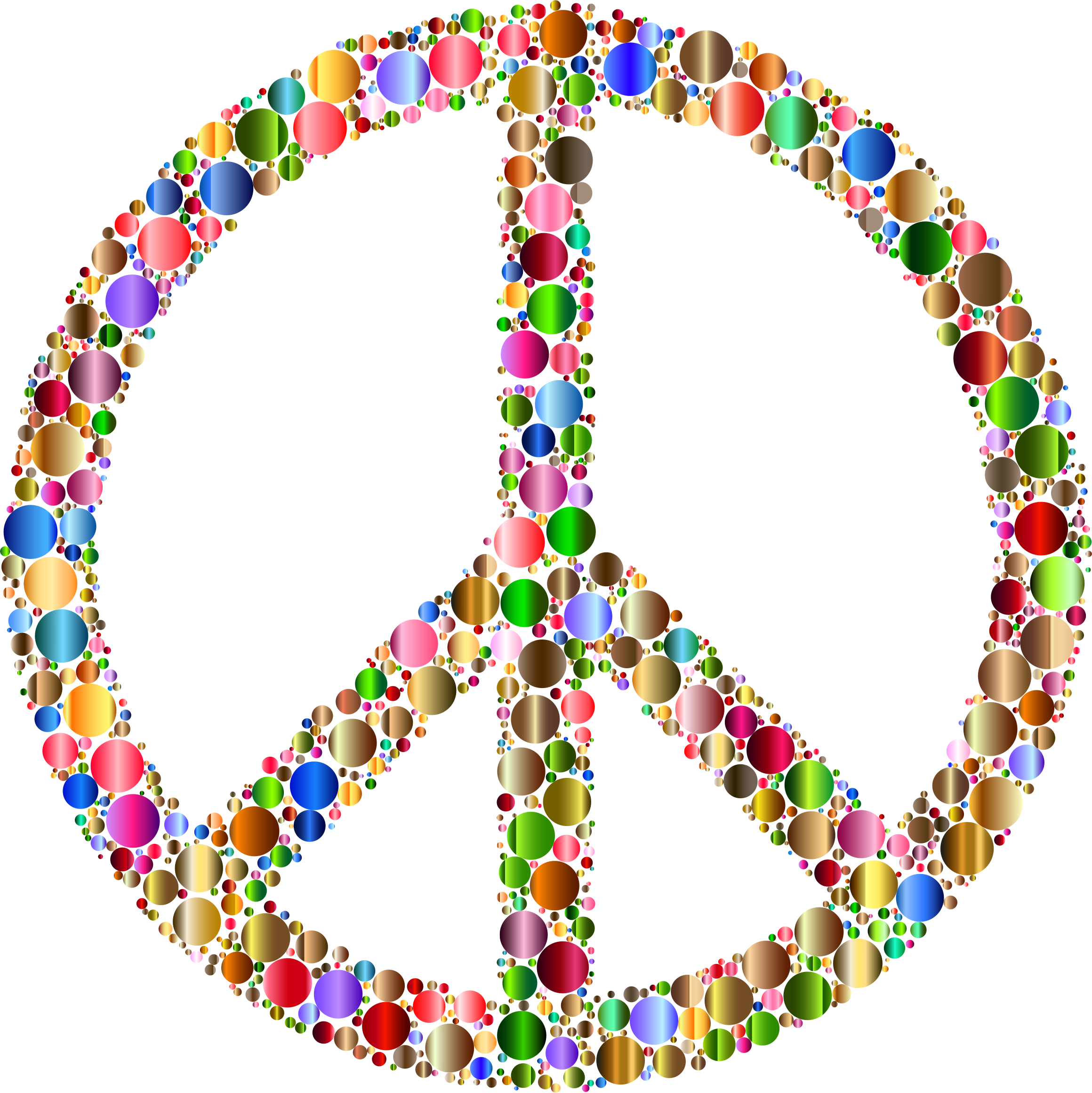 Colorful Circles Peace Sign 12 by GDJ