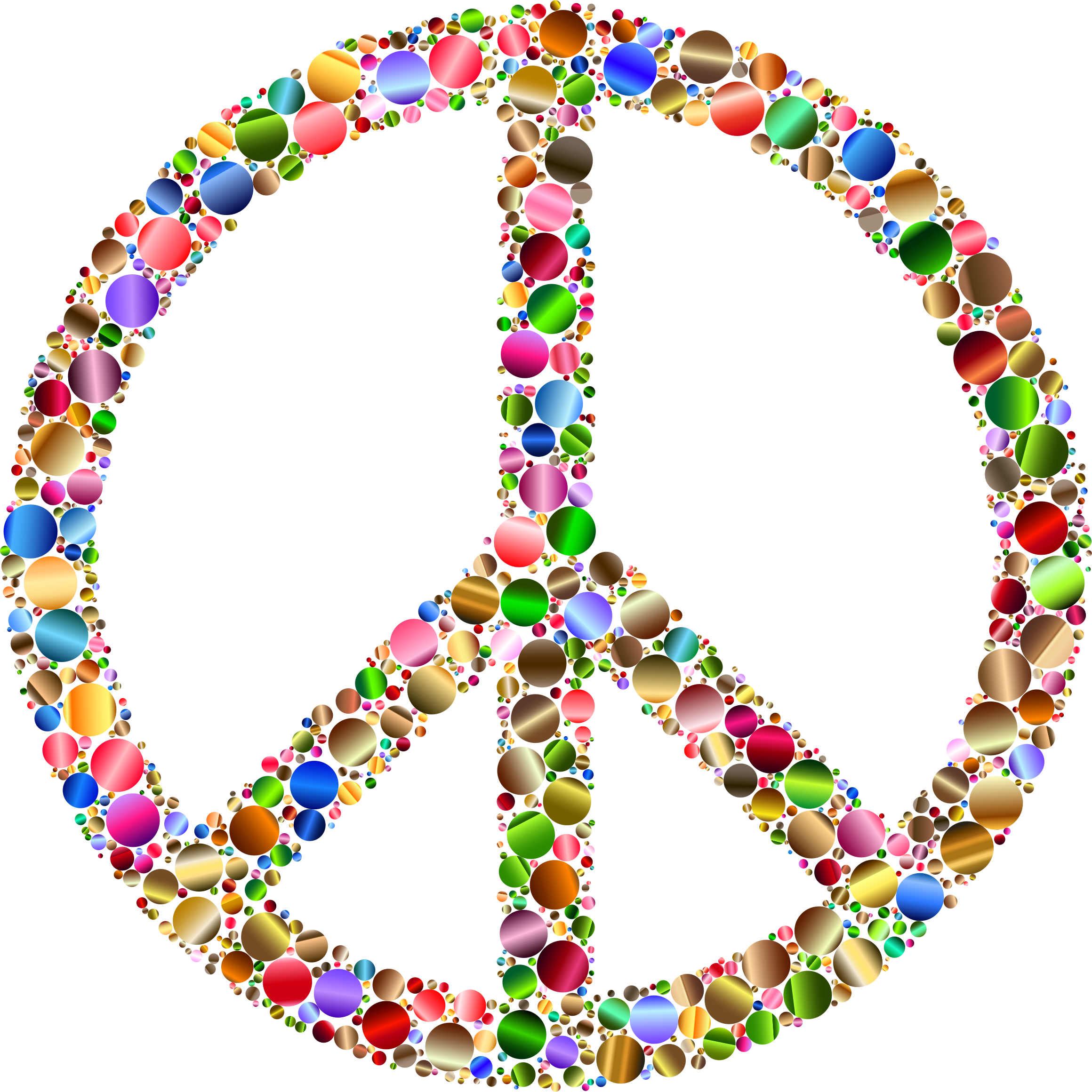 Colorful Circles Peace Sign 12 Variation 2 by GDJ