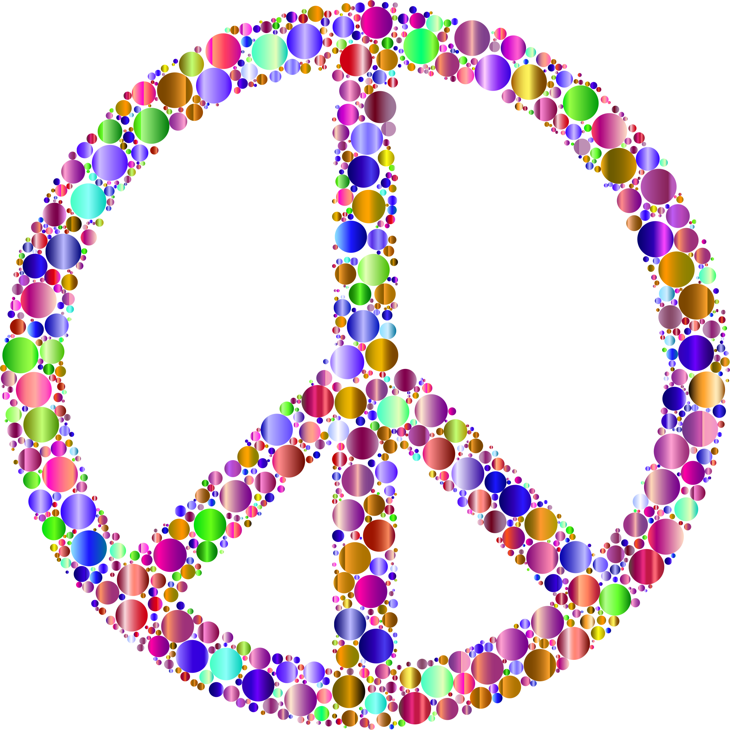Colorful Circles Peace Sign 13 by GDJ