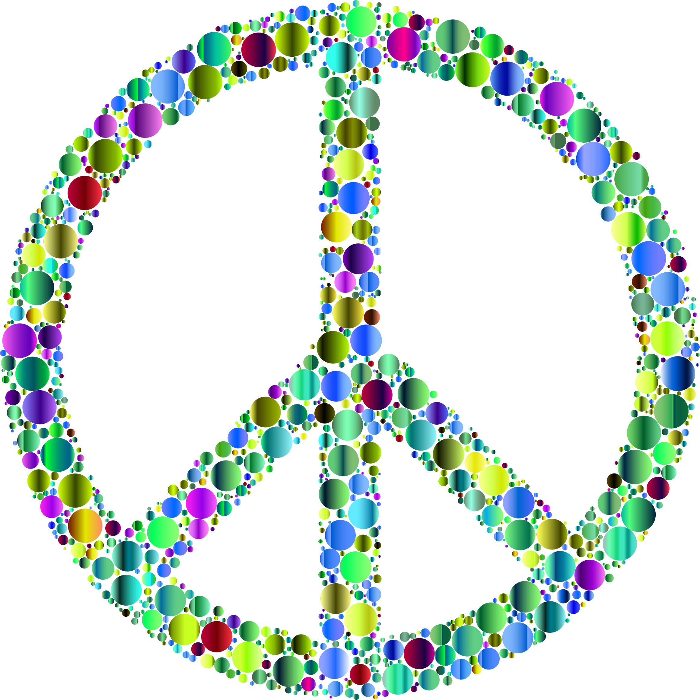 Colorful Circles Peace Sign 14 by GDJ