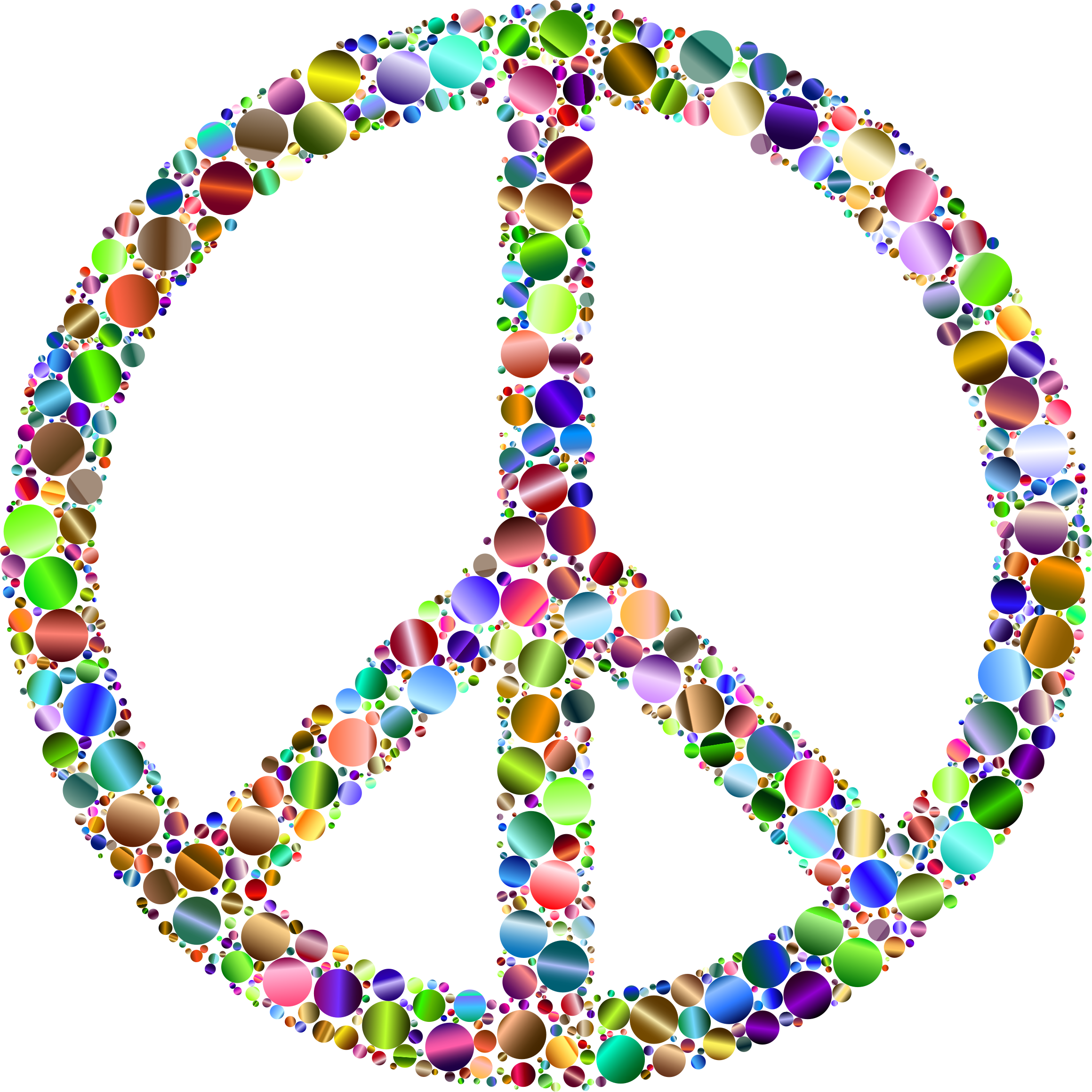 Colorful Circles Peace Sign 15 by GDJ