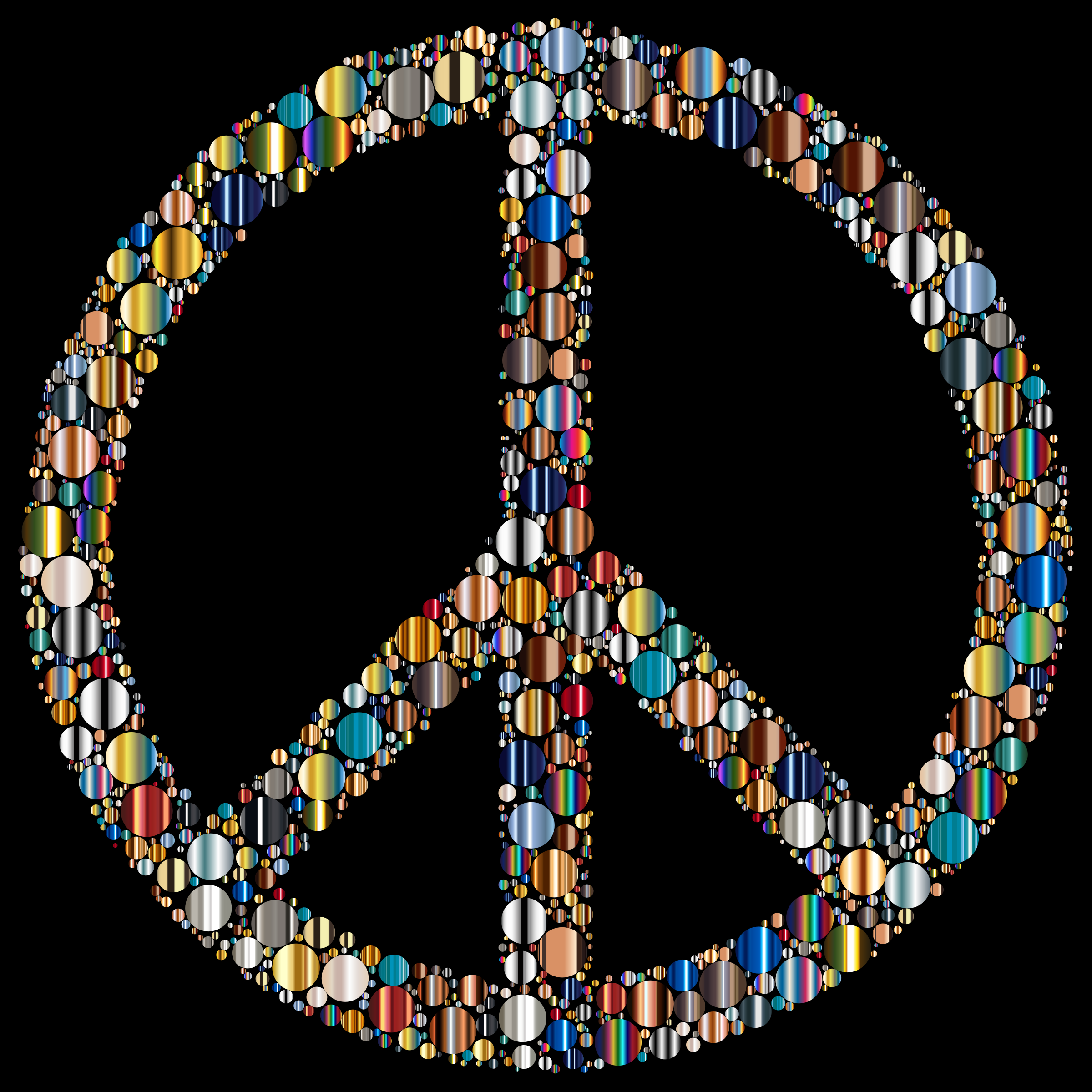 Colorful Circles Peace Sign 16 With Background by GDJ