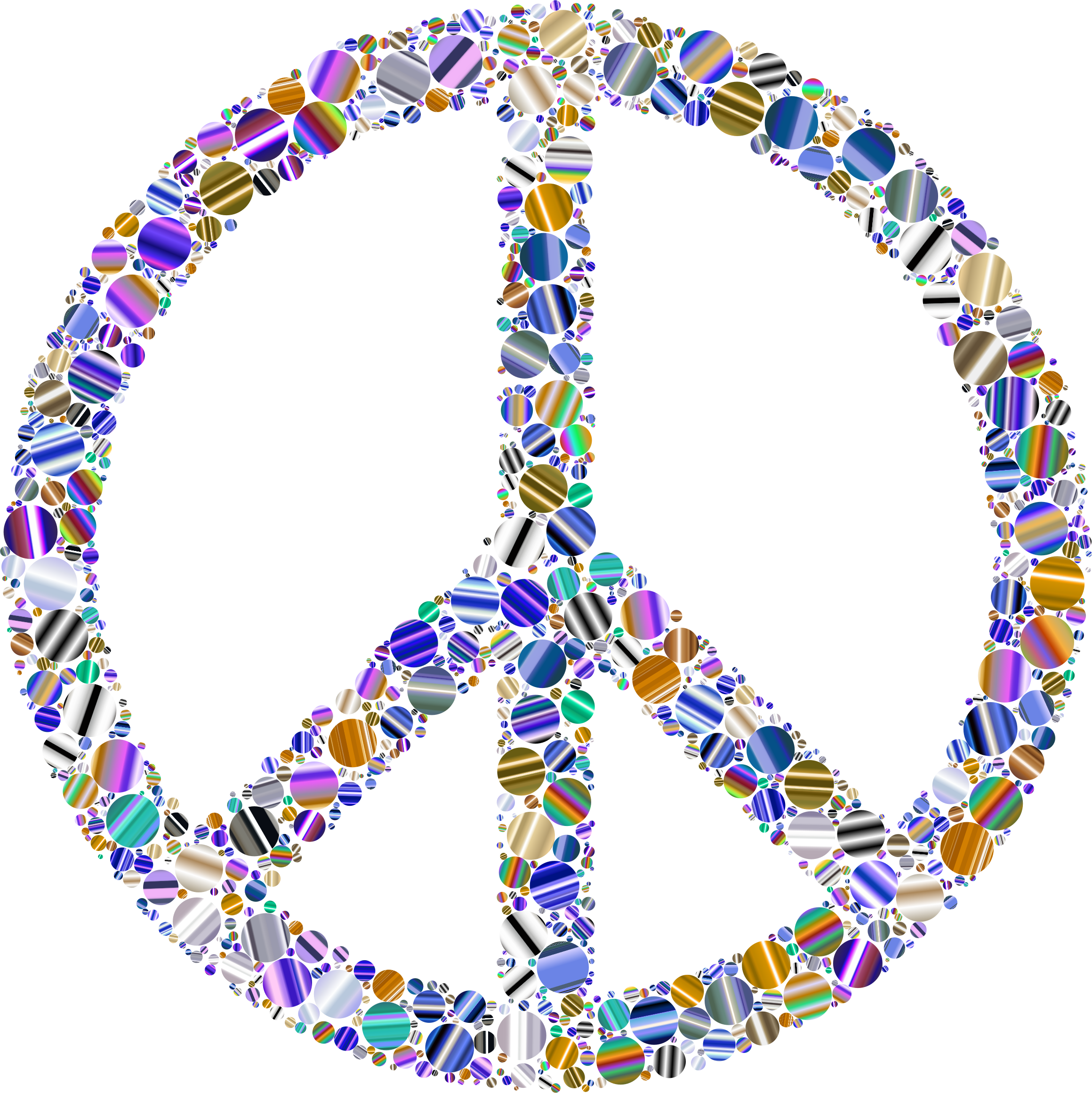 Colorful Circles Peace Sign 16 Variation 3 by GDJ