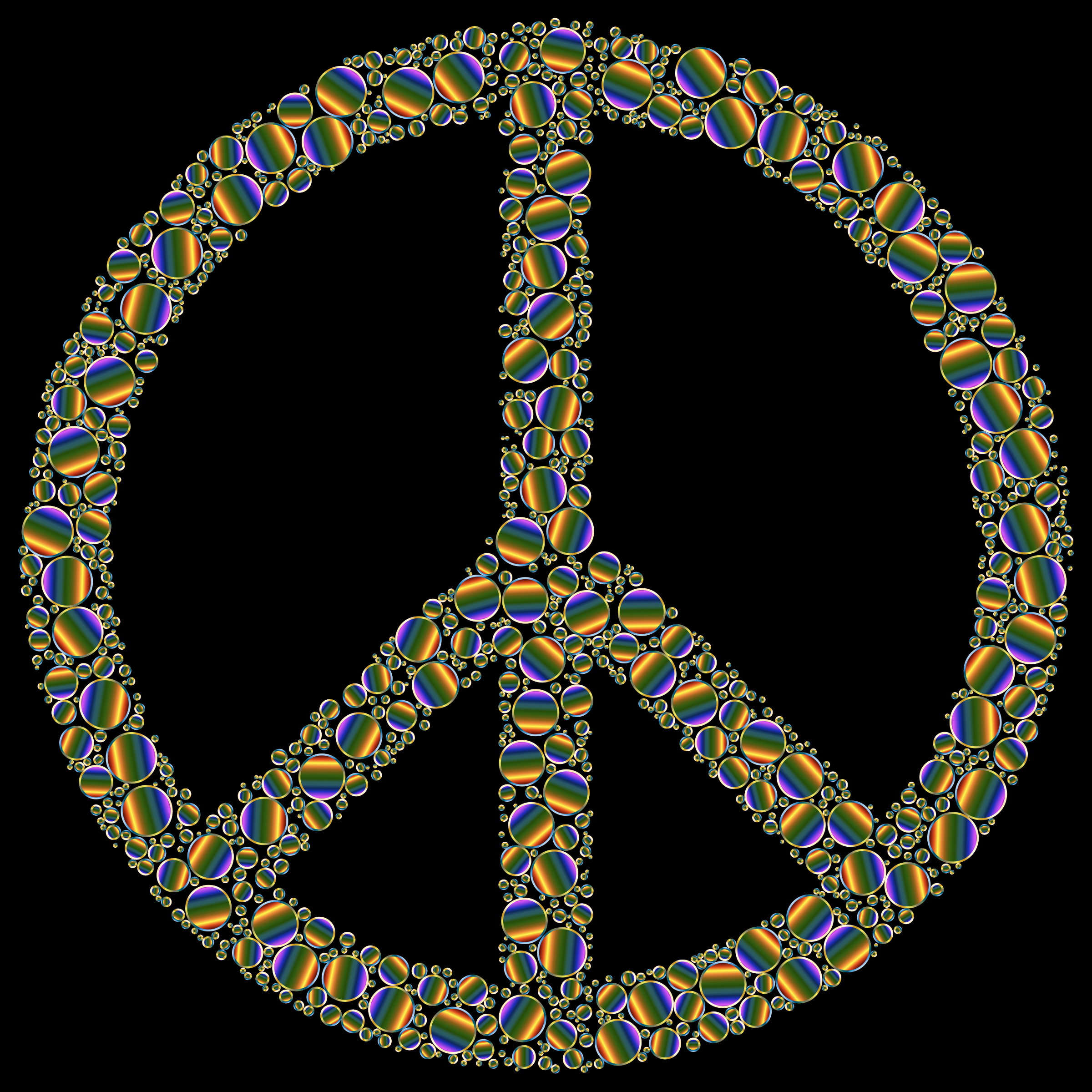Colorful Circles Peace Sign 17 by GDJ