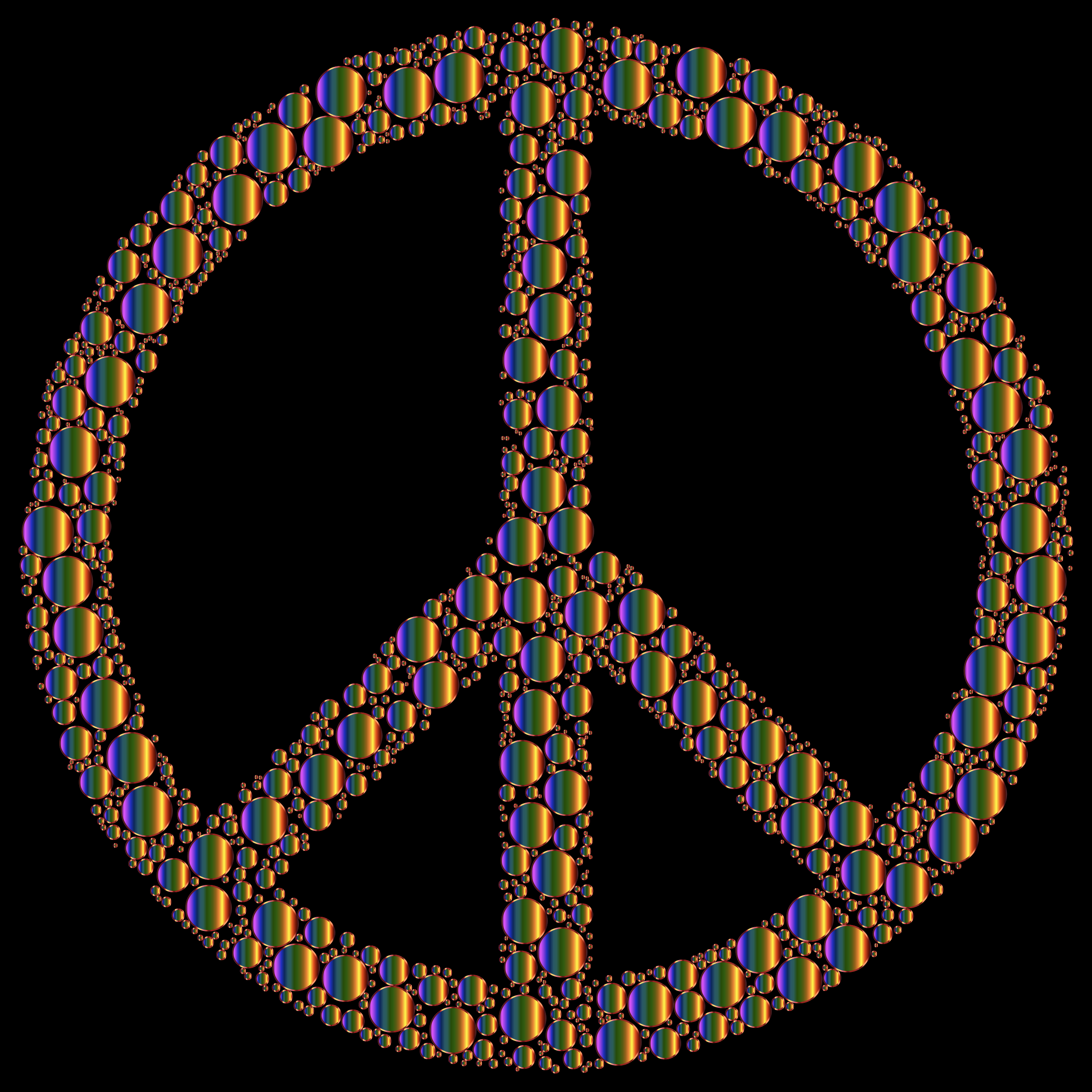 Colorful Circles Peace Sign 18 by GDJ