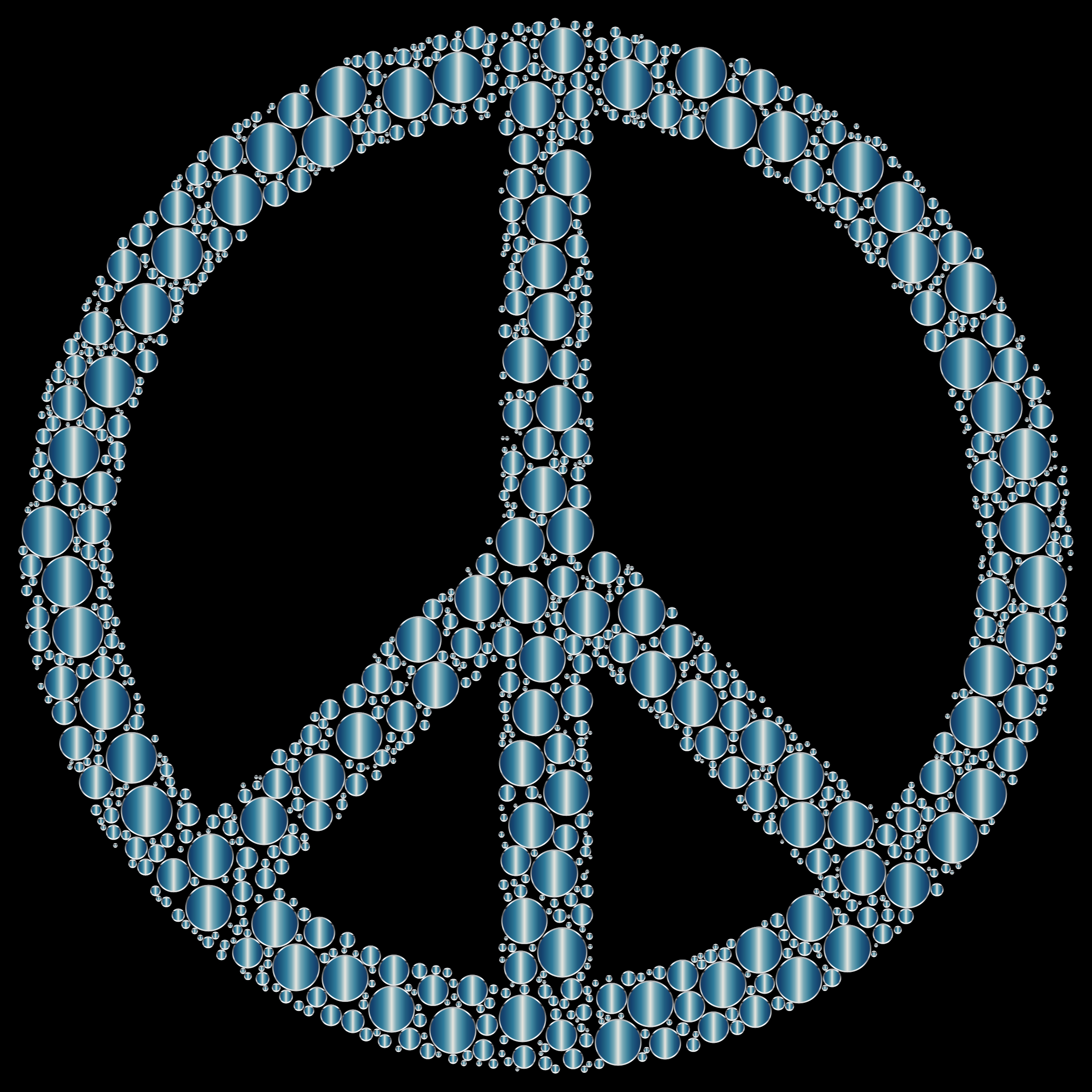 Colorful Circles Peace Sign 20 by GDJ