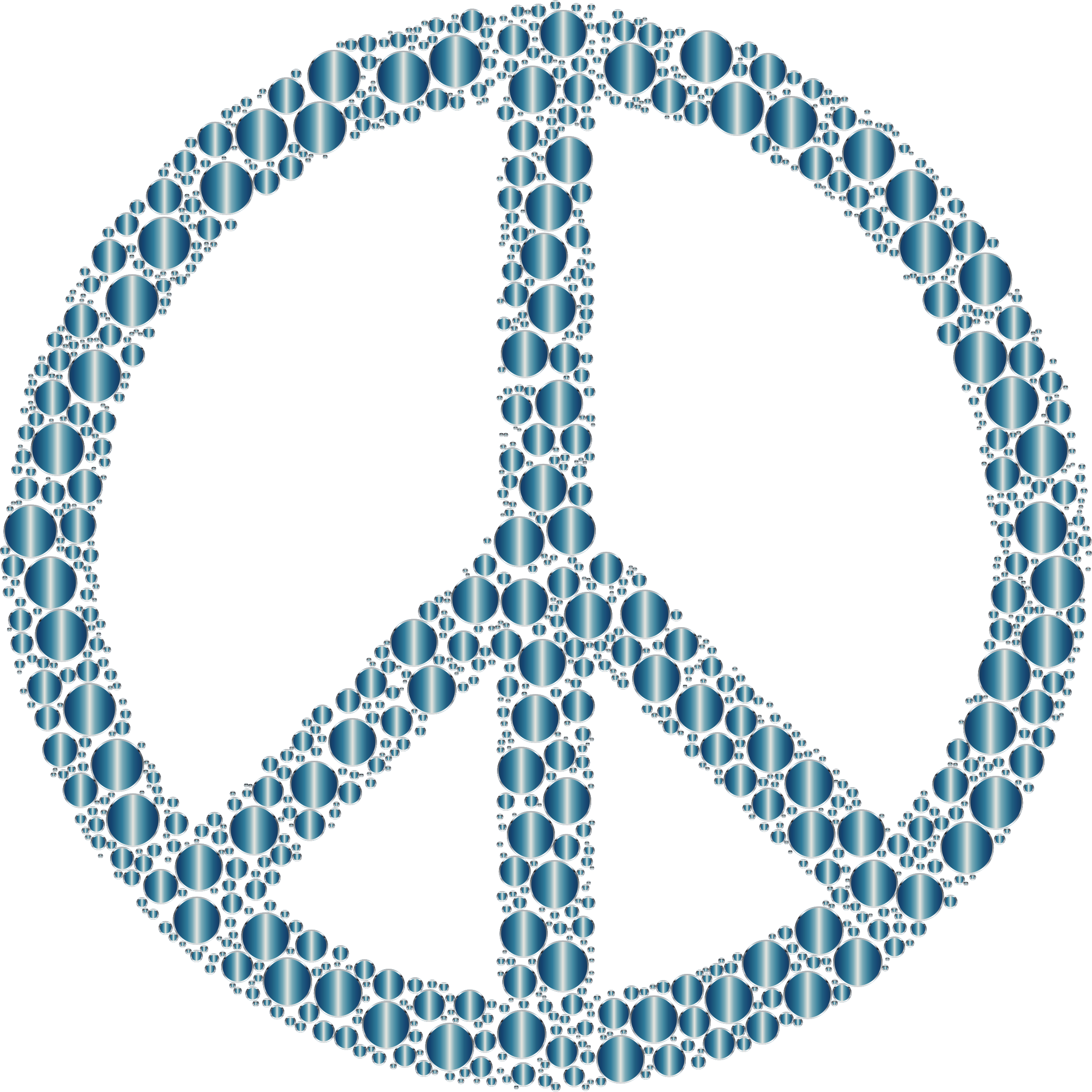 Colorful Circles Peace Sign 20 Without Background by GDJ