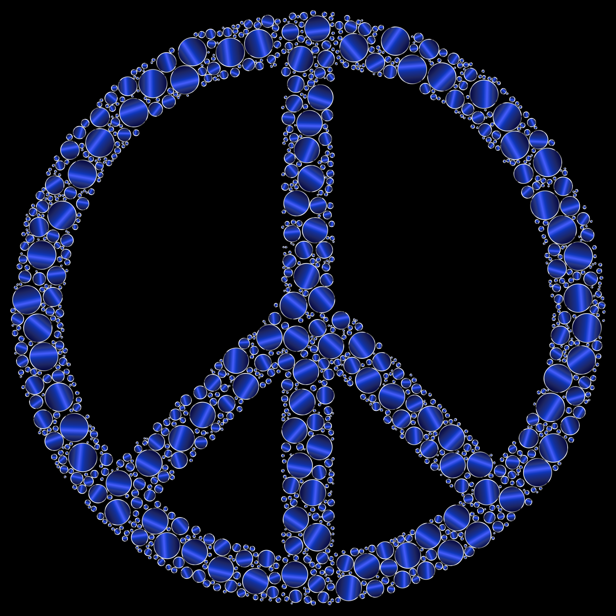 Colorful Circles Peace Sign 21 by GDJ