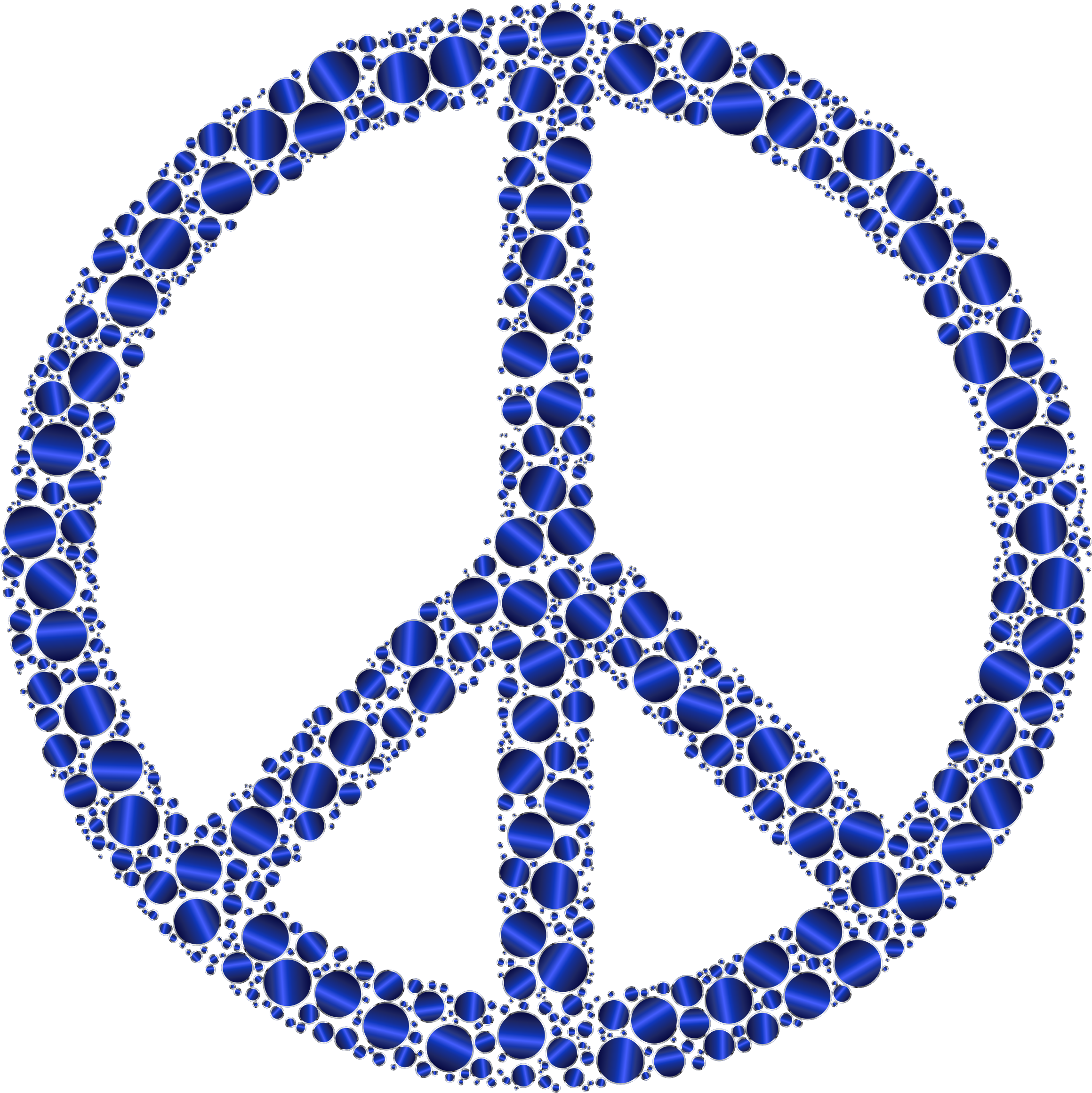 Colorful Circles Peace Sign 21 Without Background by GDJ