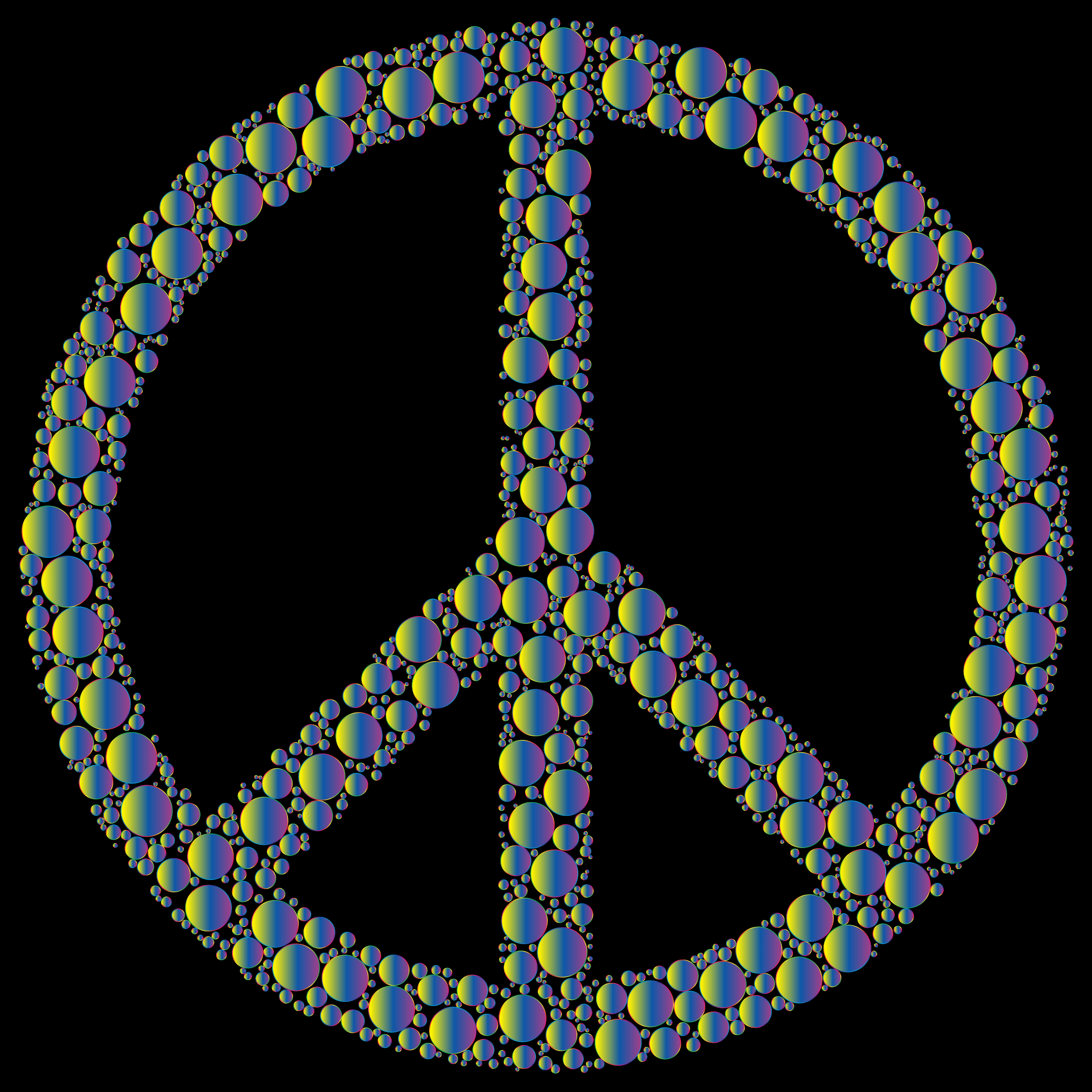 Colorful Circles Peace Sign 23 by GDJ