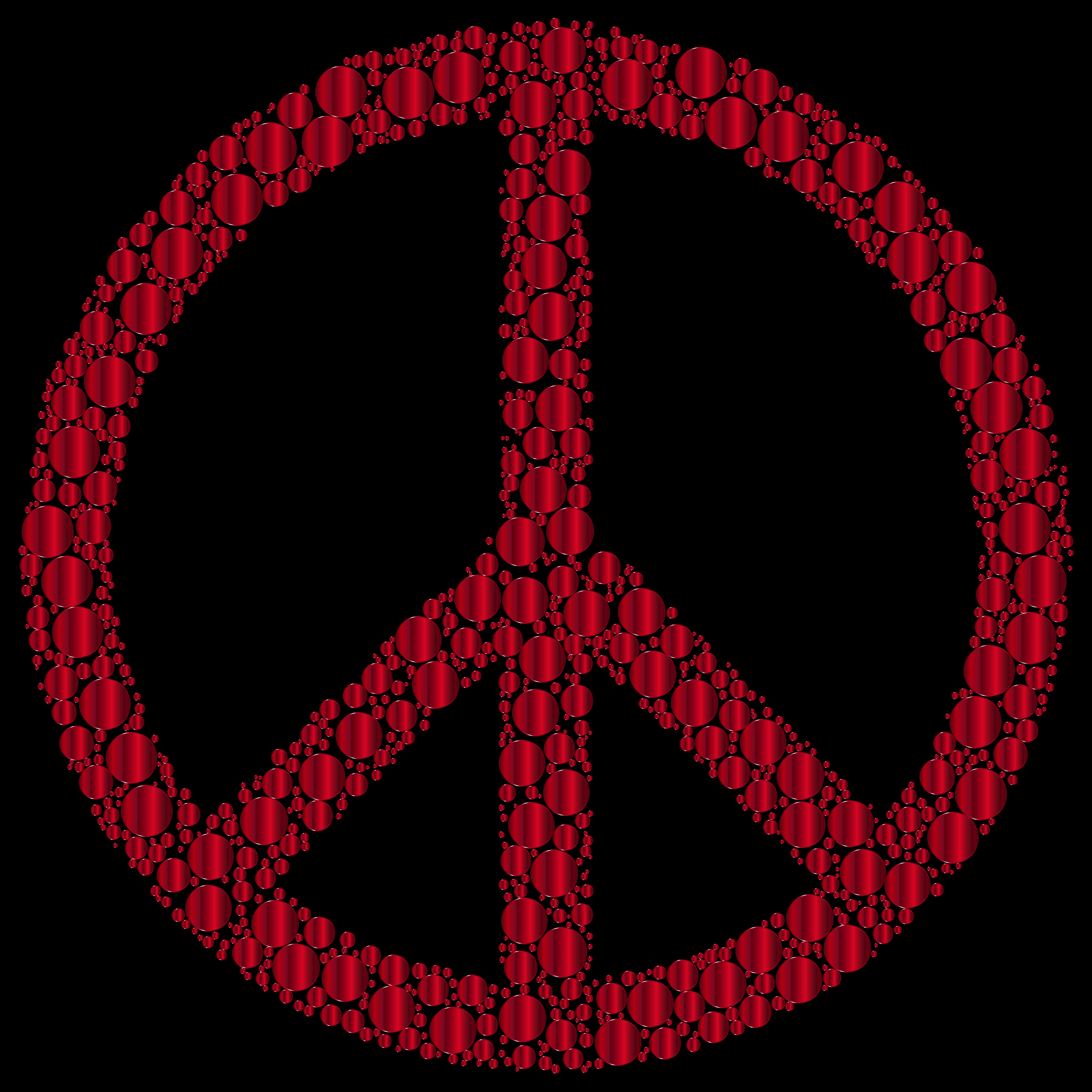 Colorful Circles Peace Sign 25 by GDJ