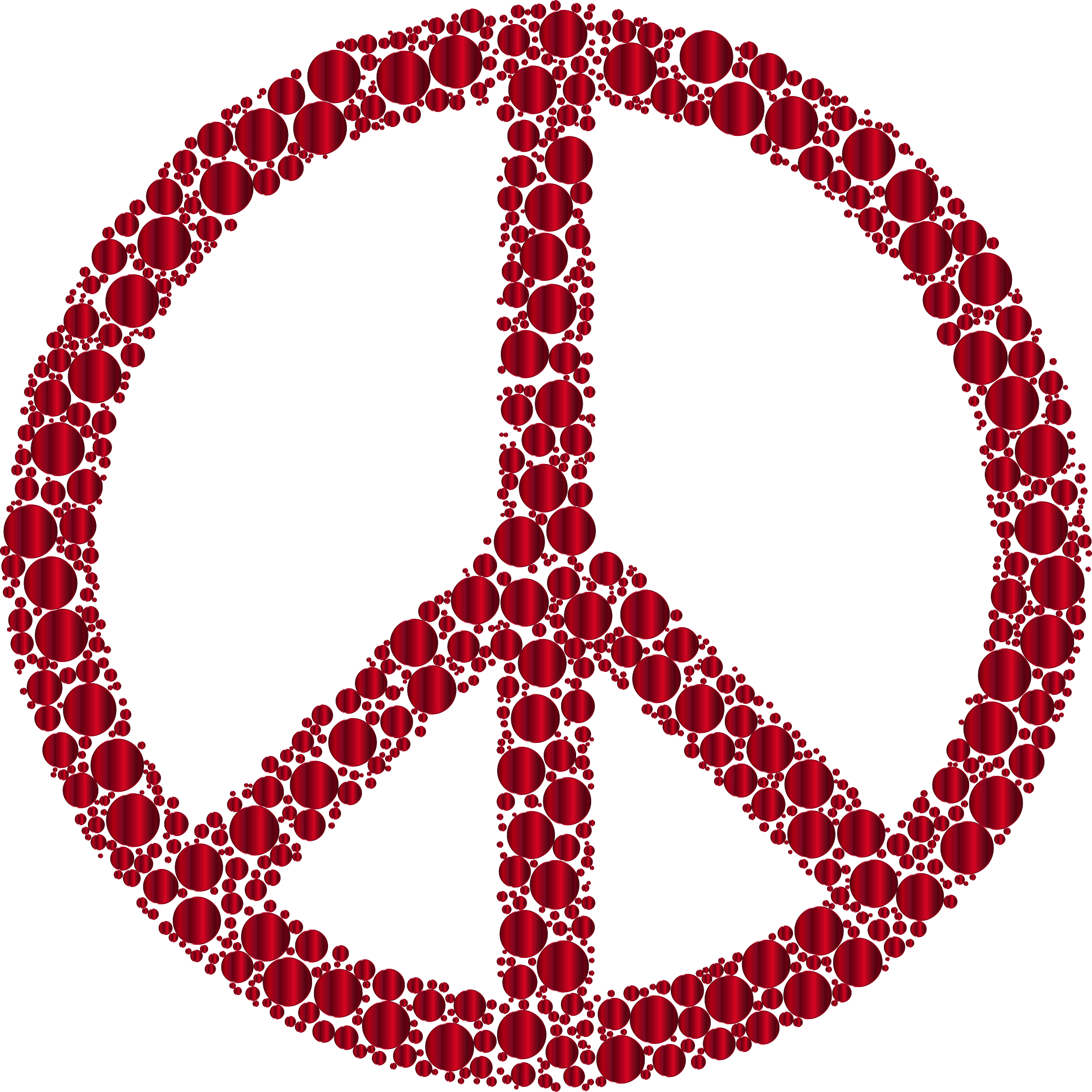 Colorful Circles Peace Sign 25 Without Background by GDJ