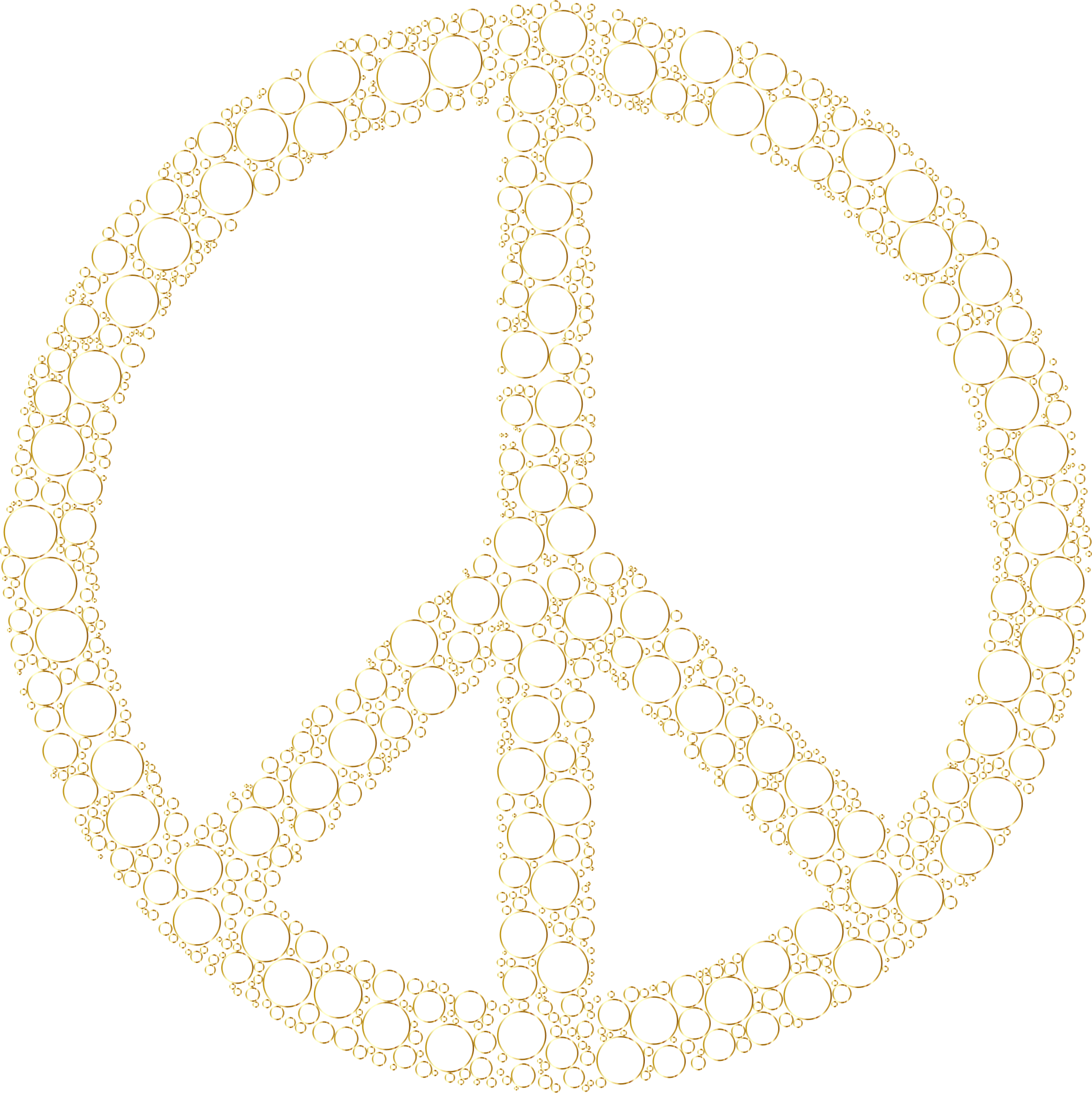 Colorful Circles Peace Sign 26 Without Background by GDJ
