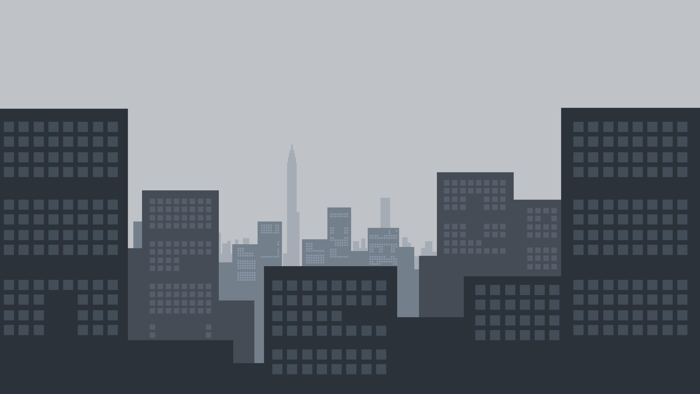 2D Cityscape in Overcast by pagarmidna