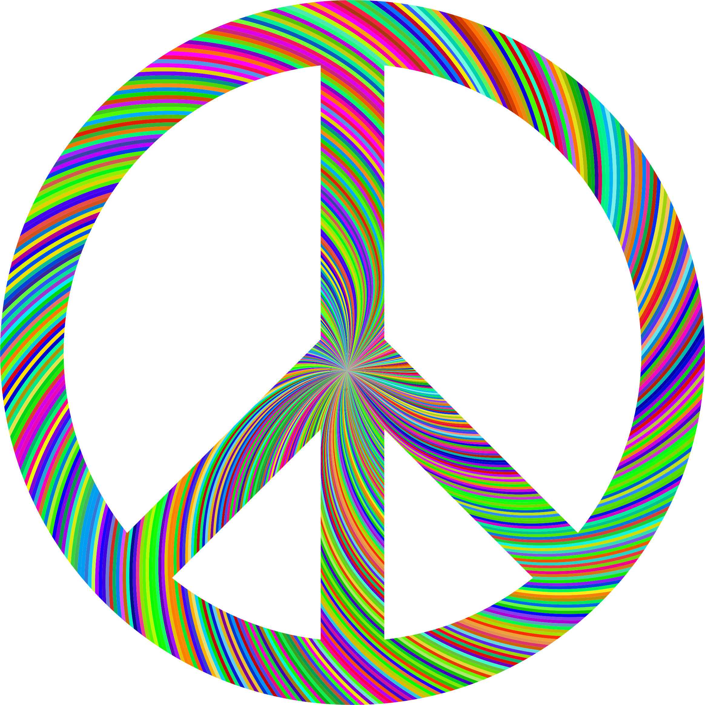 Clipart Sixties Peace Sign