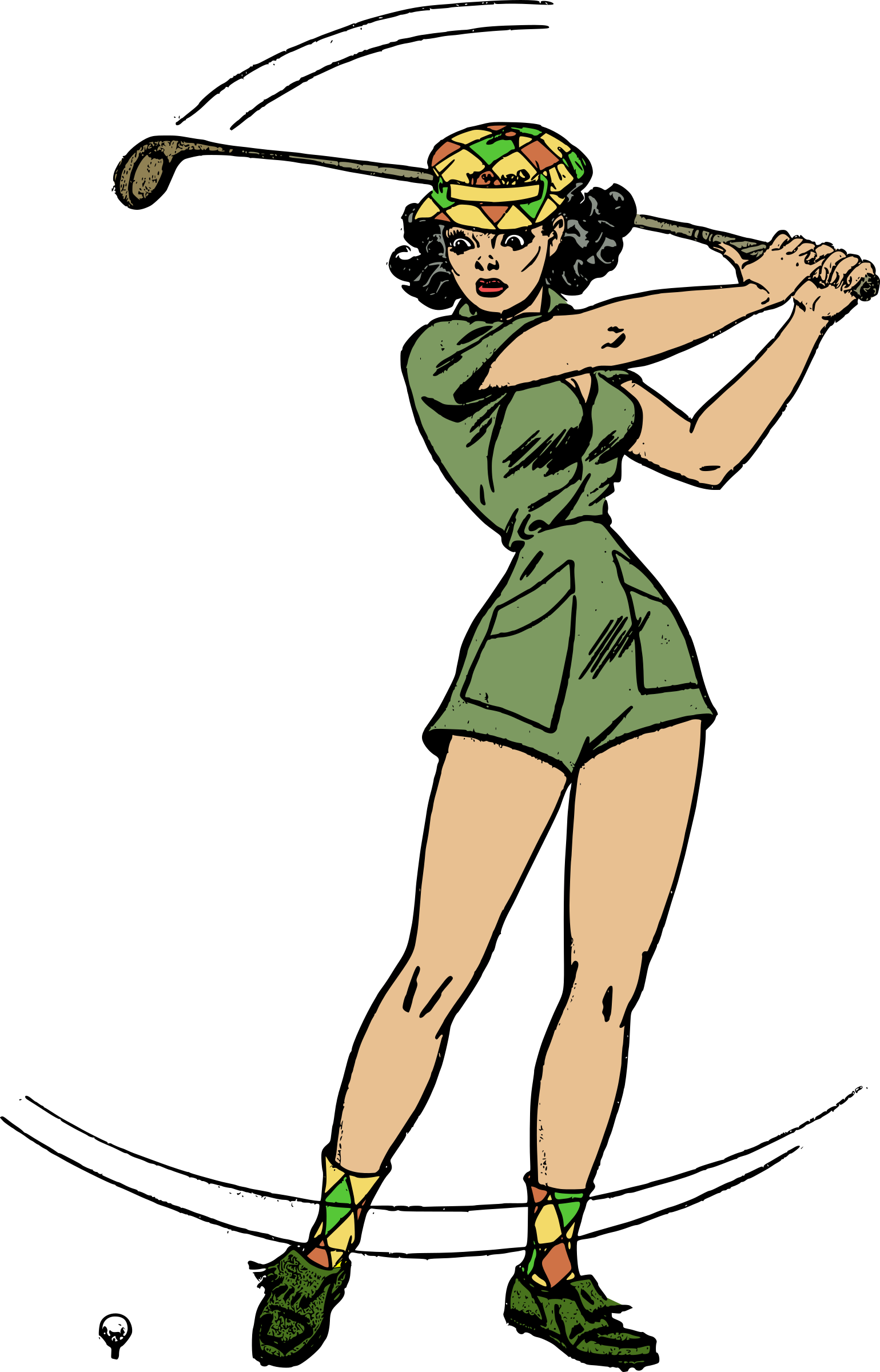 Clipart - Female golfer