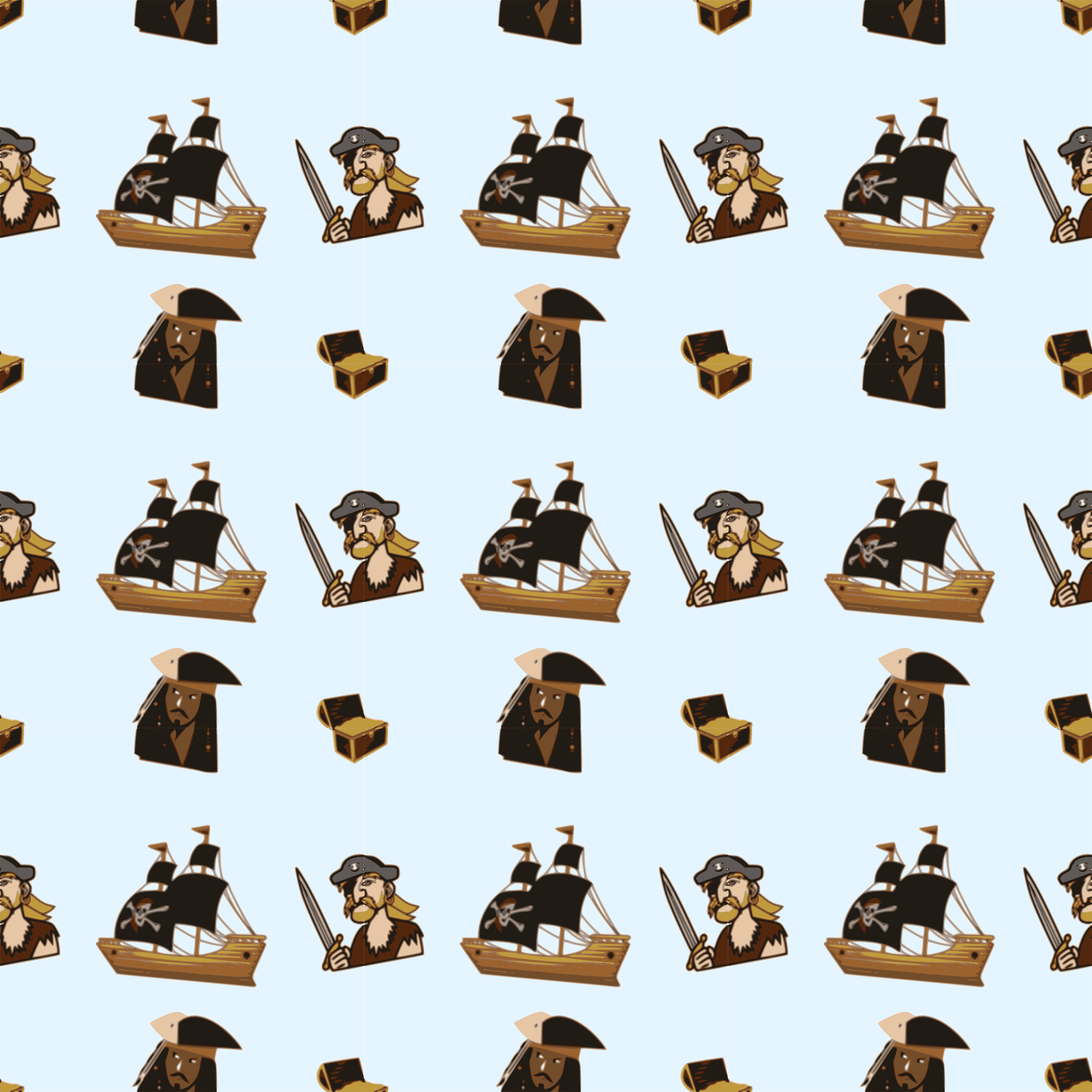 Pirate-seamless pattern by yamachem