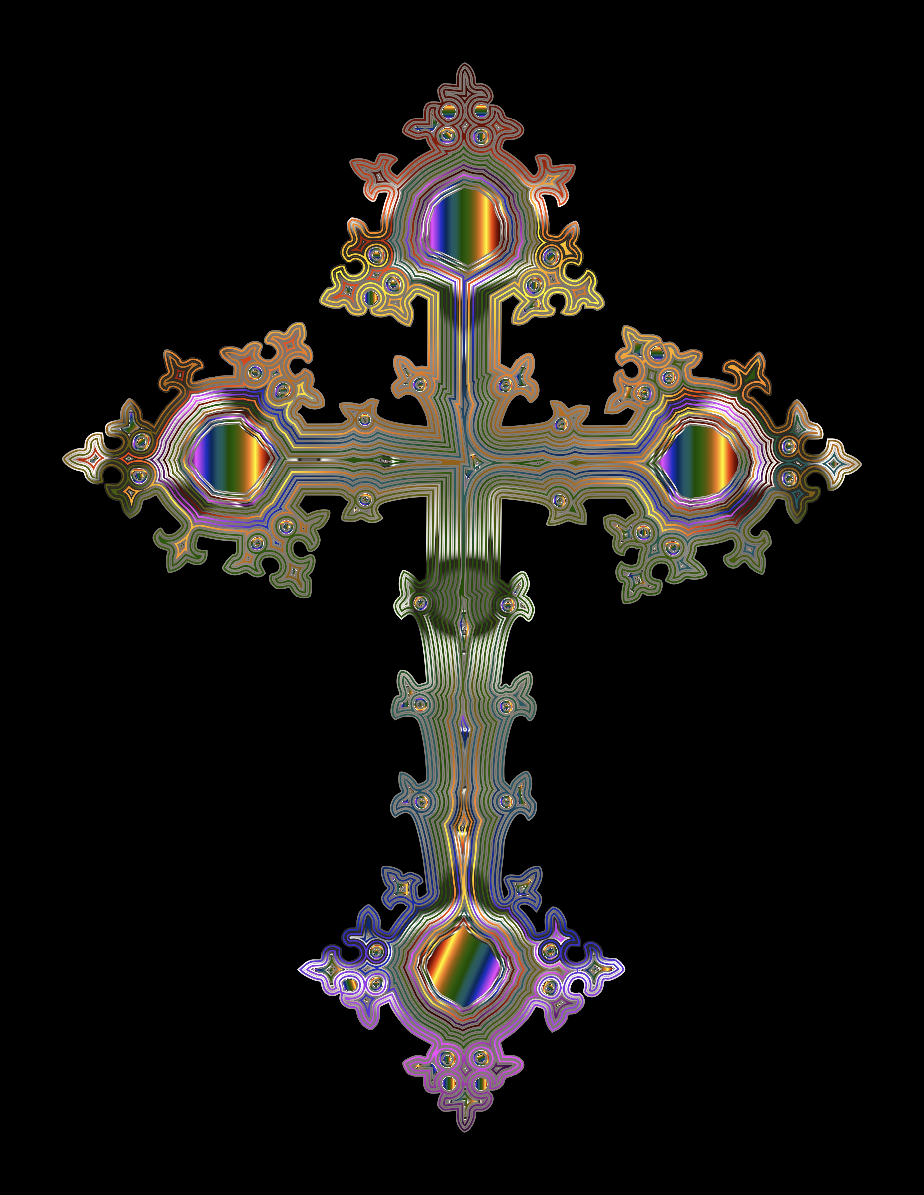 Prismatic Ornate Cross by GDJ