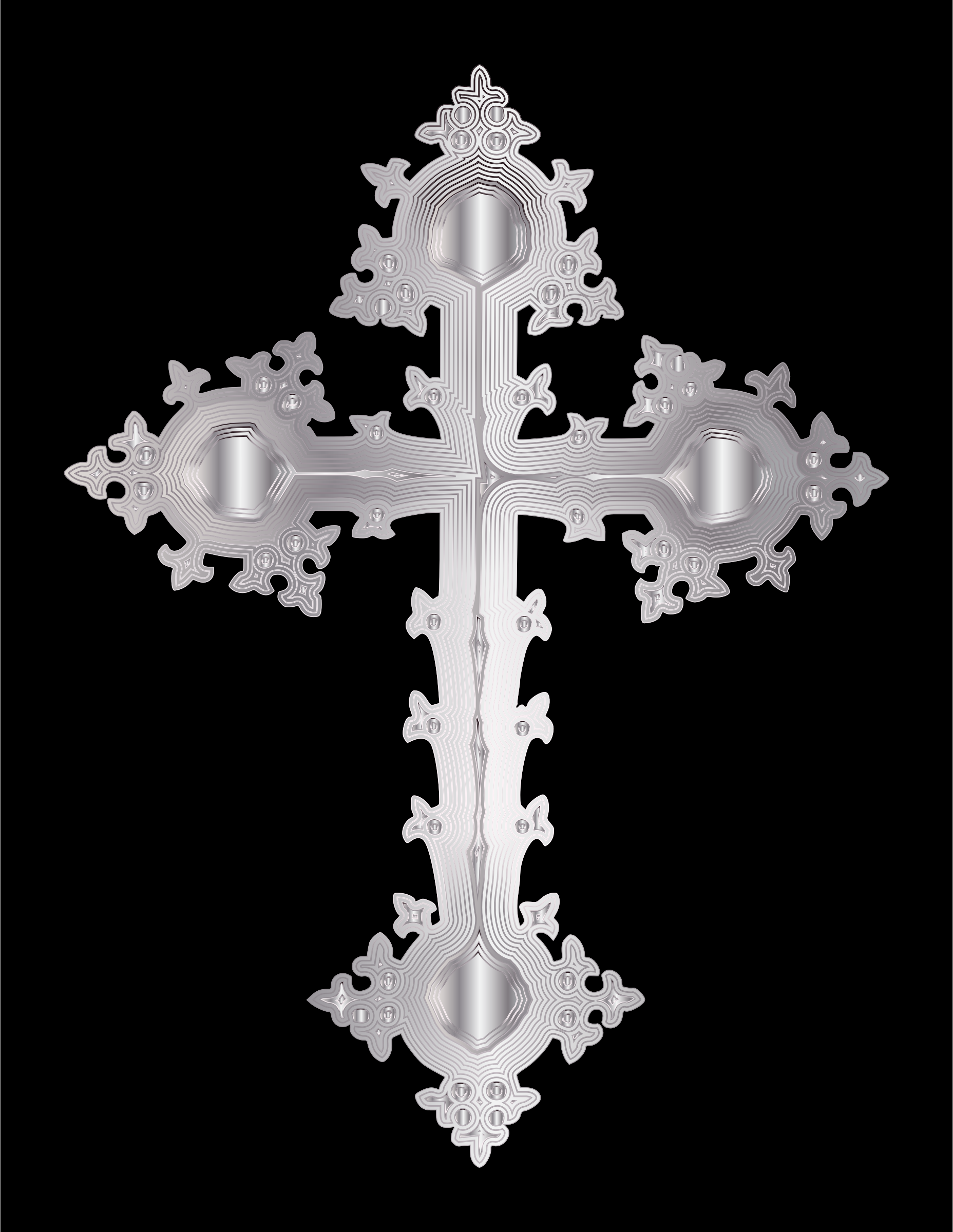 Platinum Ornate Cross by GDJ
