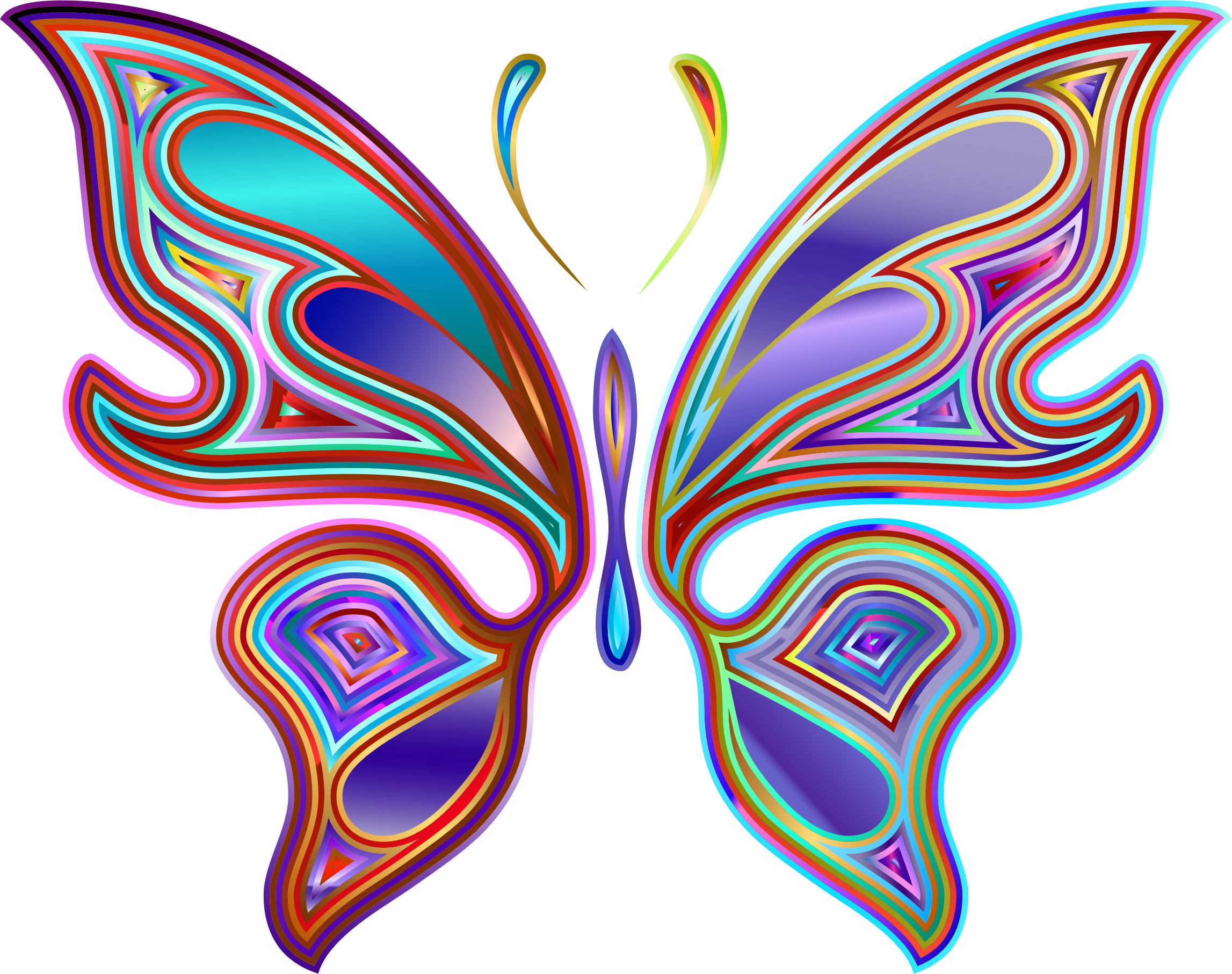 Prismatic Butterfly 6 Variation 2 by GDJ