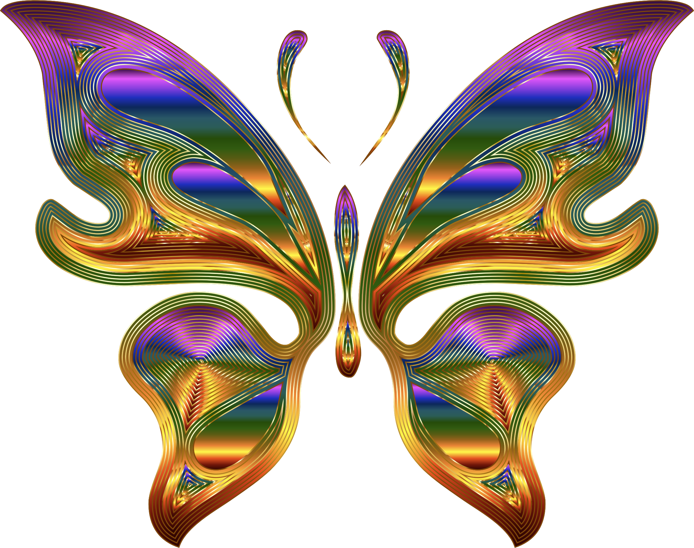 Prismatic Butterfly 9 Variation 2 by GDJ