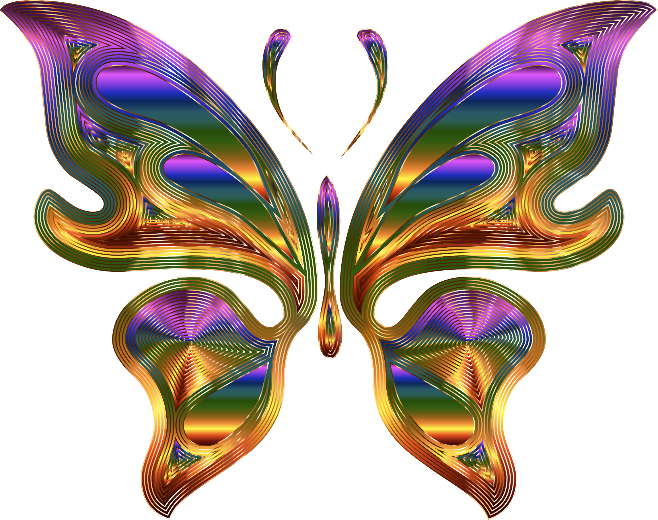 Prismatic Butterfly 9 Variation 3 by GDJ