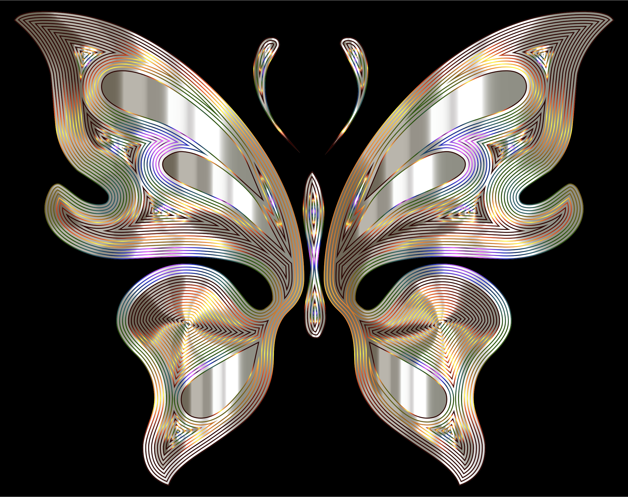 Prismatic Butterfly 12 Variation 3 by GDJ