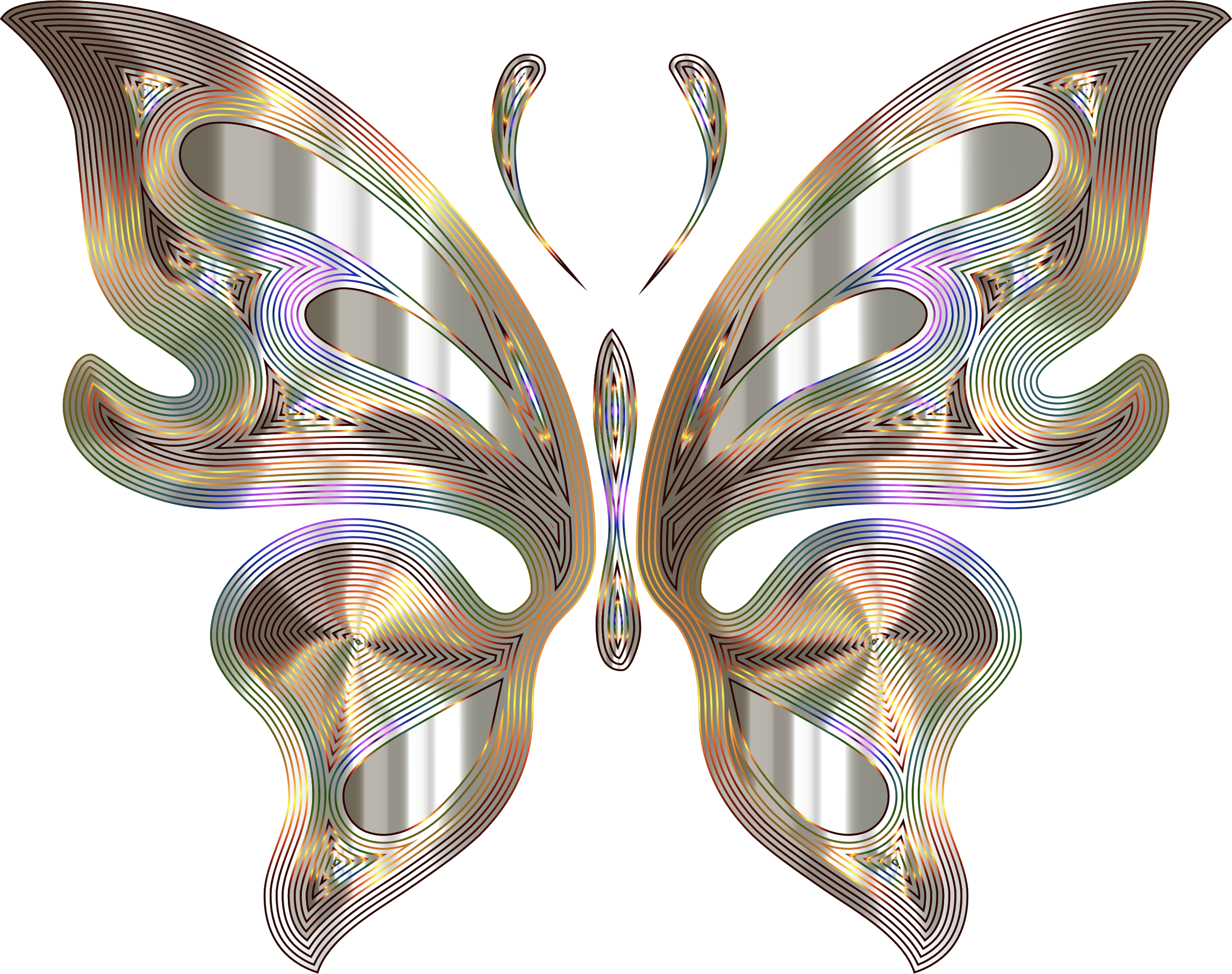 Prismatic Butterfly 12 Variation 3 No Background by GDJ
