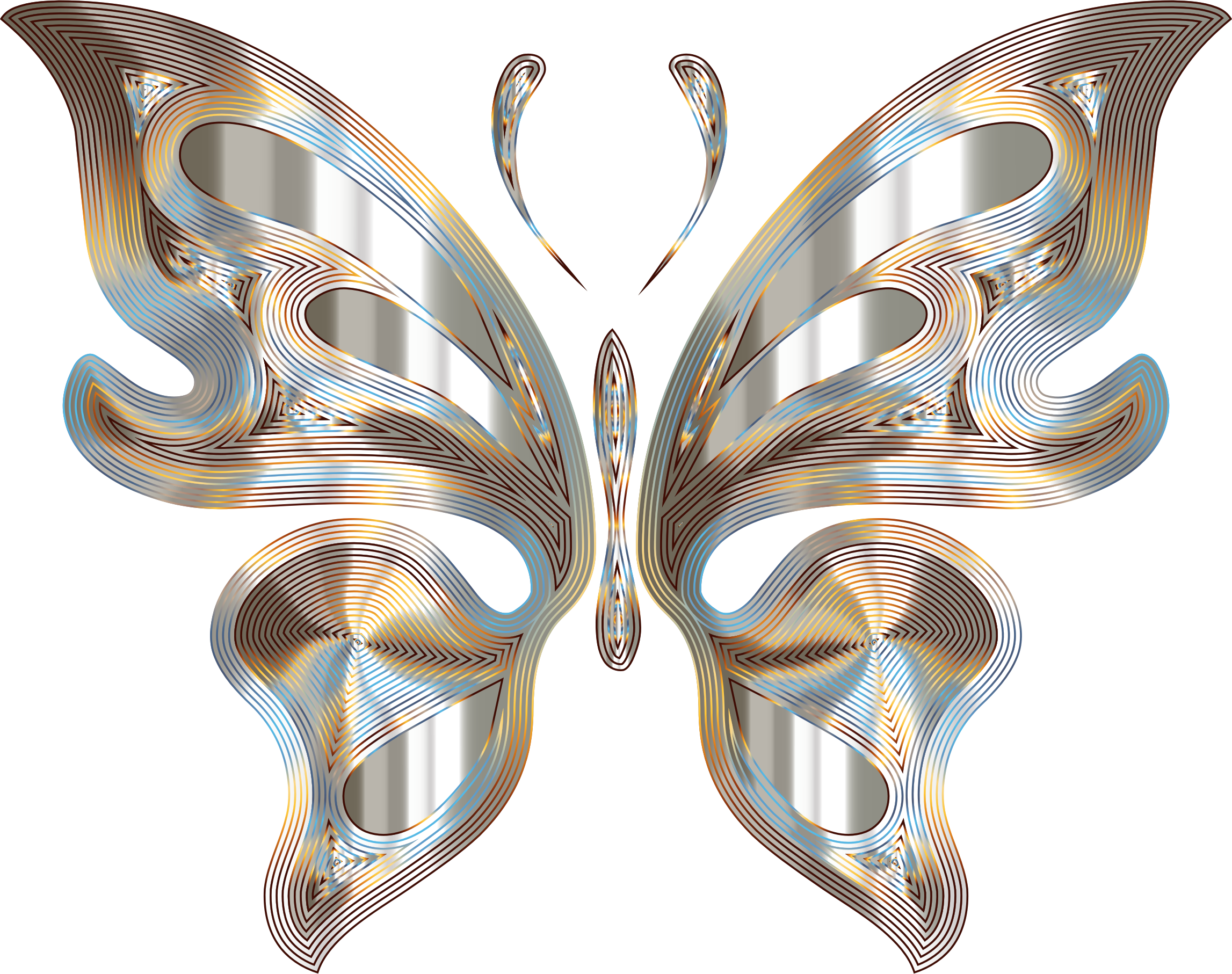 Prismatic Butterfly 12 Variation 4 No Background by GDJ