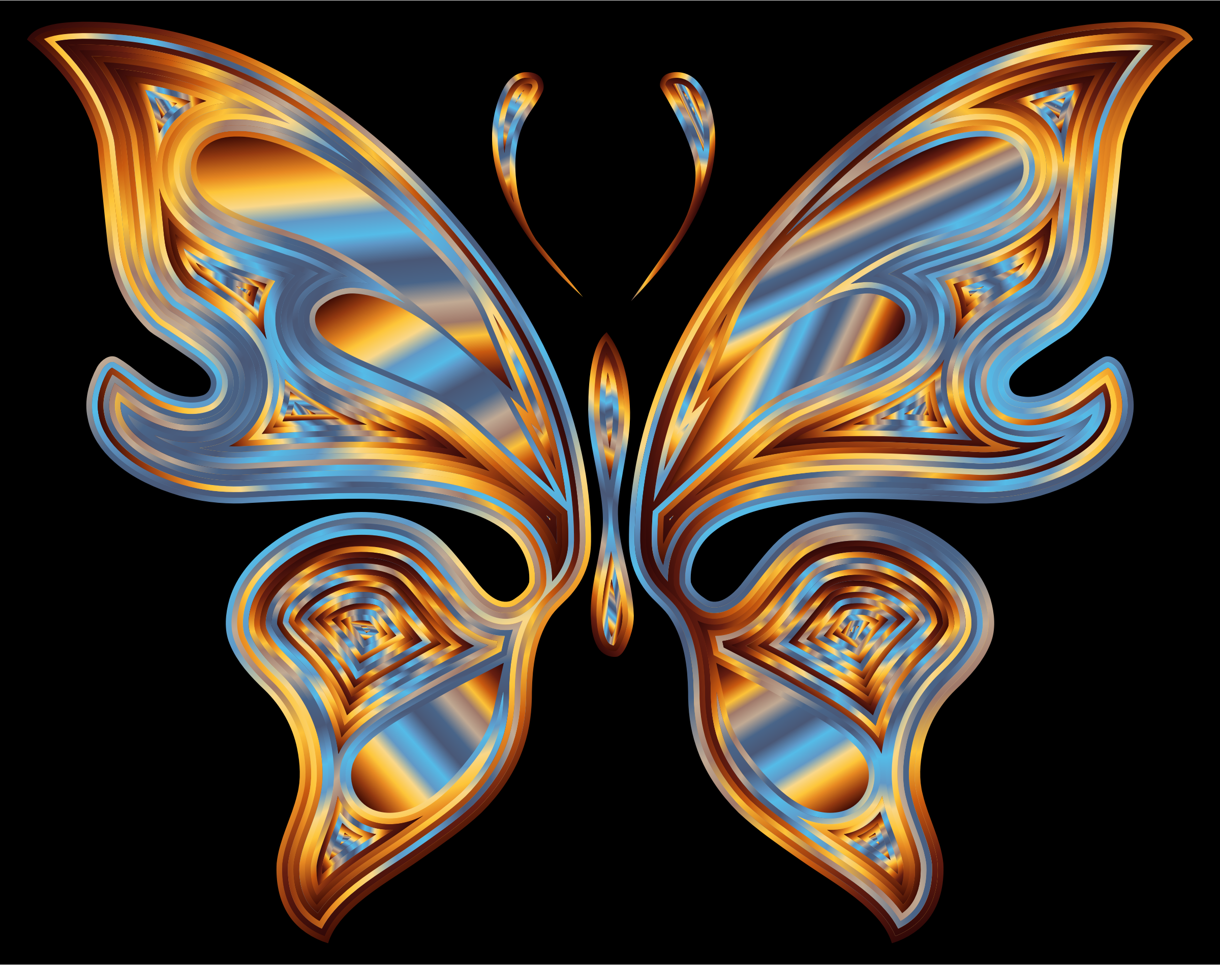 Prismatic Butterfly 13 Variation 2 by GDJ