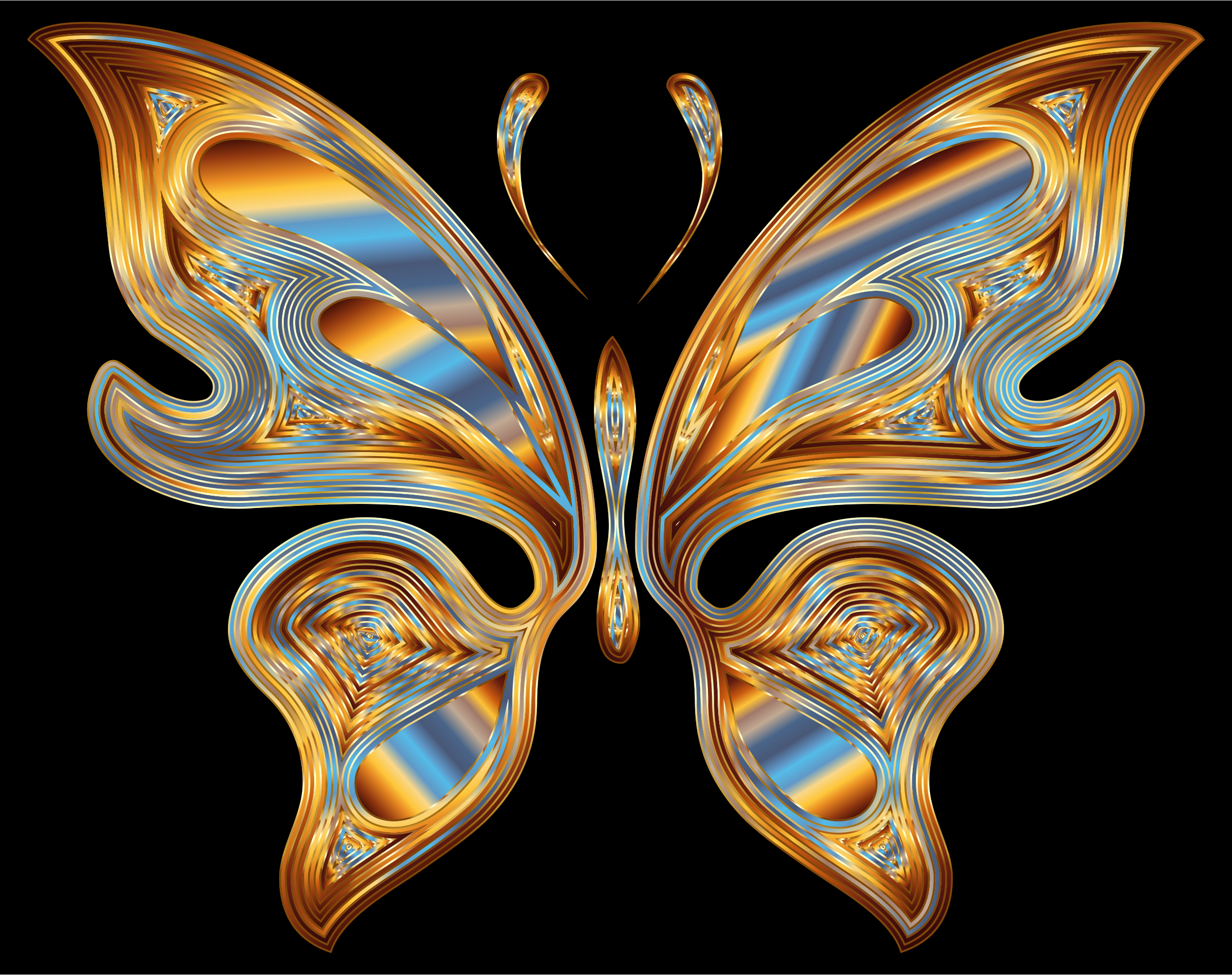 Prismatic Butterfly 13 Variation 3 by GDJ