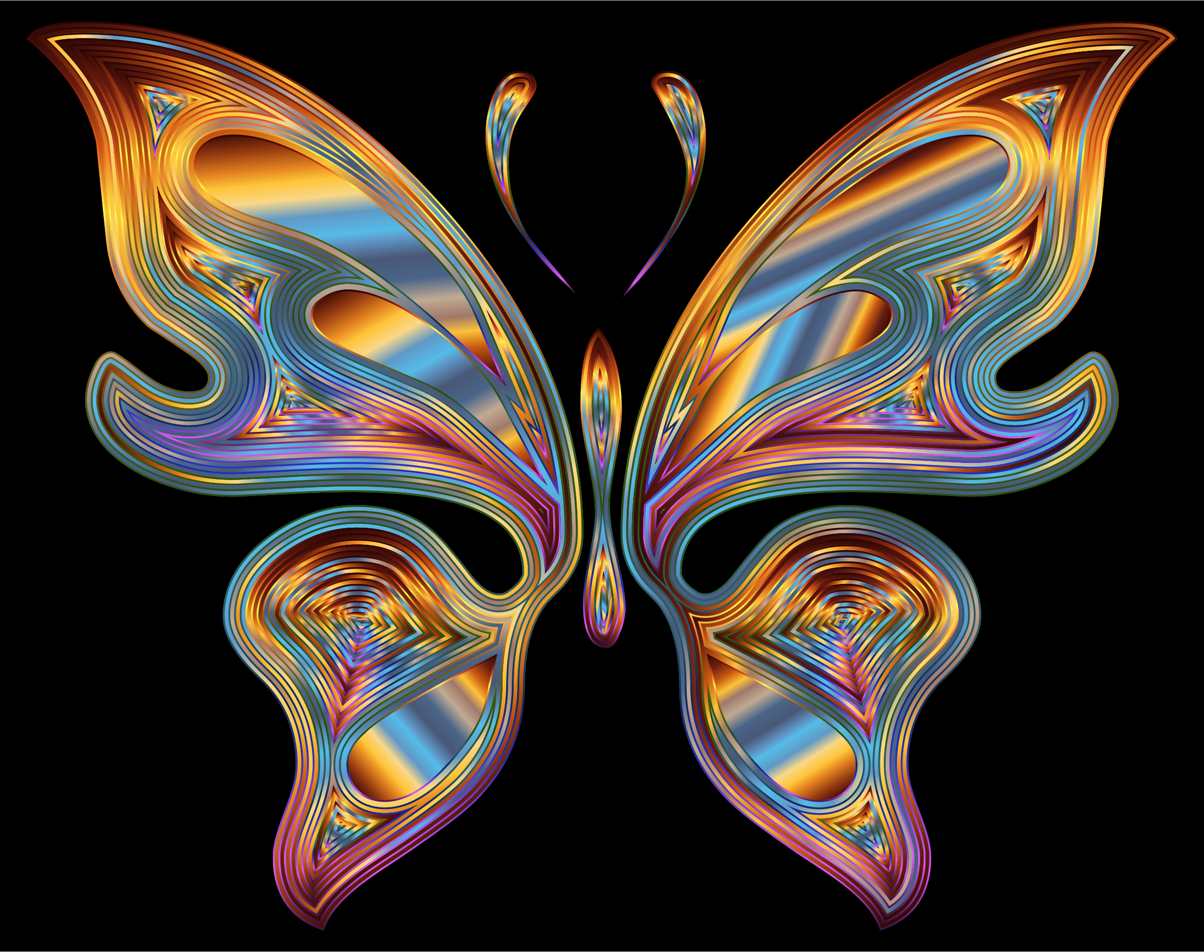 Prismatic Butterfly 13 Variation 4 by GDJ